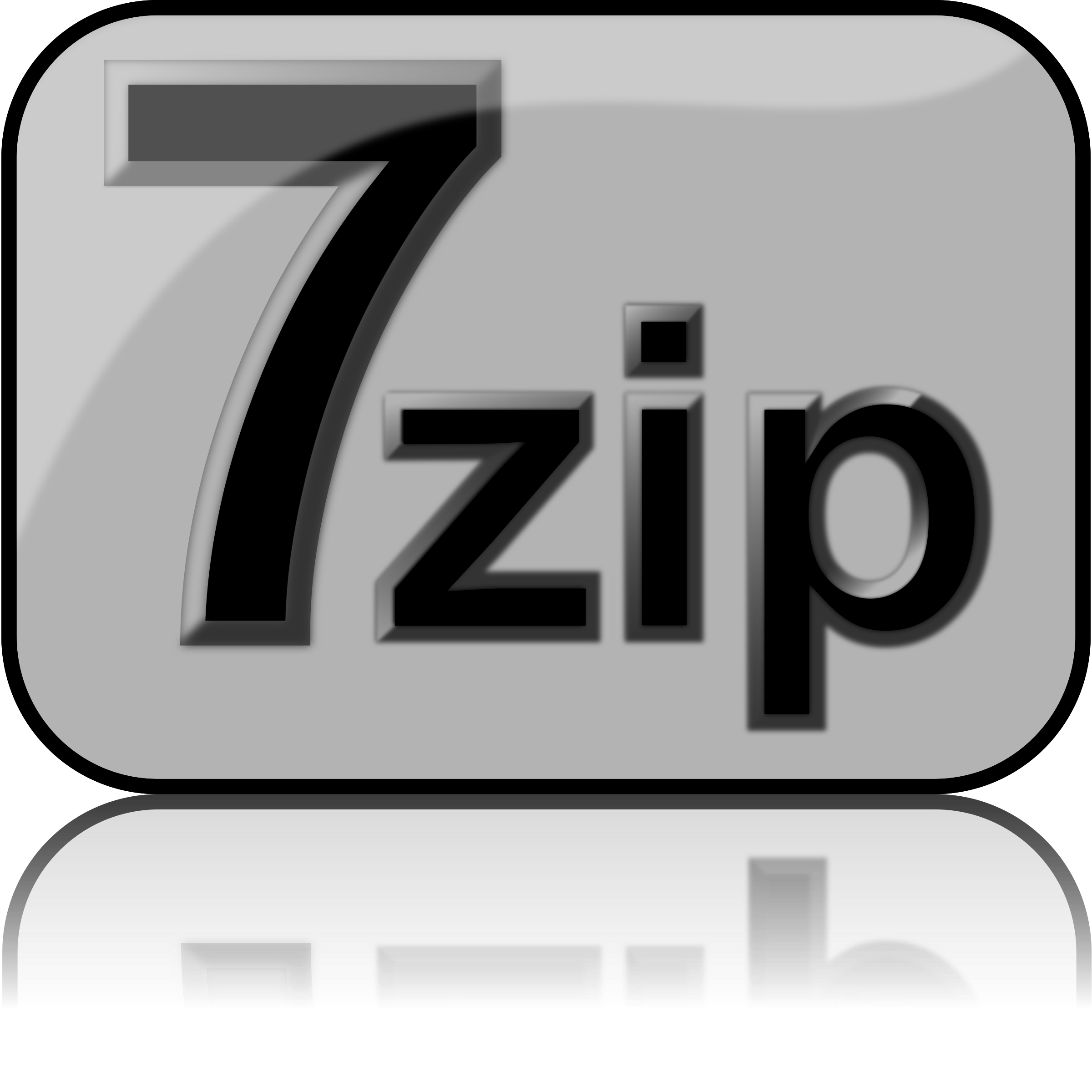7zip Glossy Extrude Gray by kg
