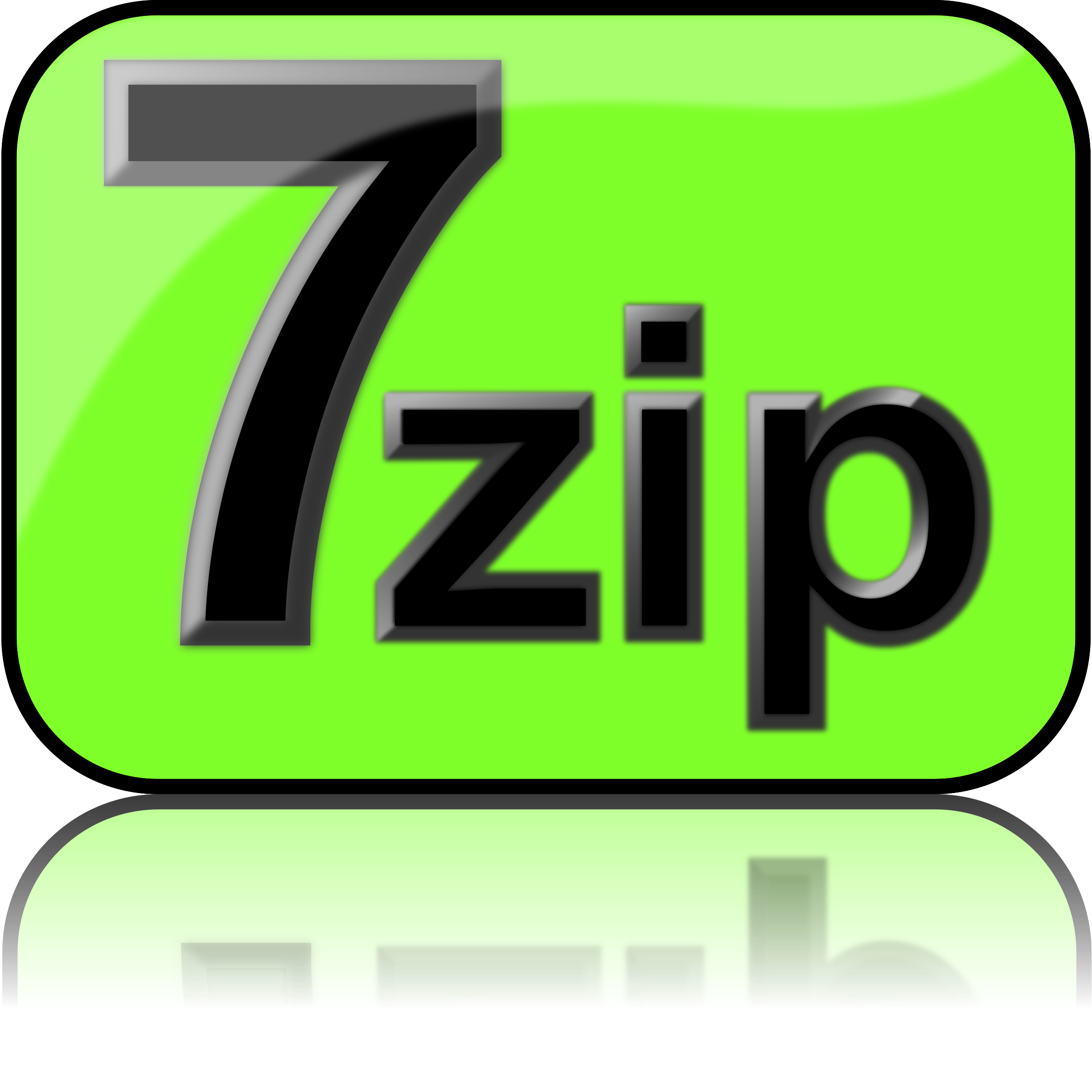 7zip Glossy Extrude Green by kg