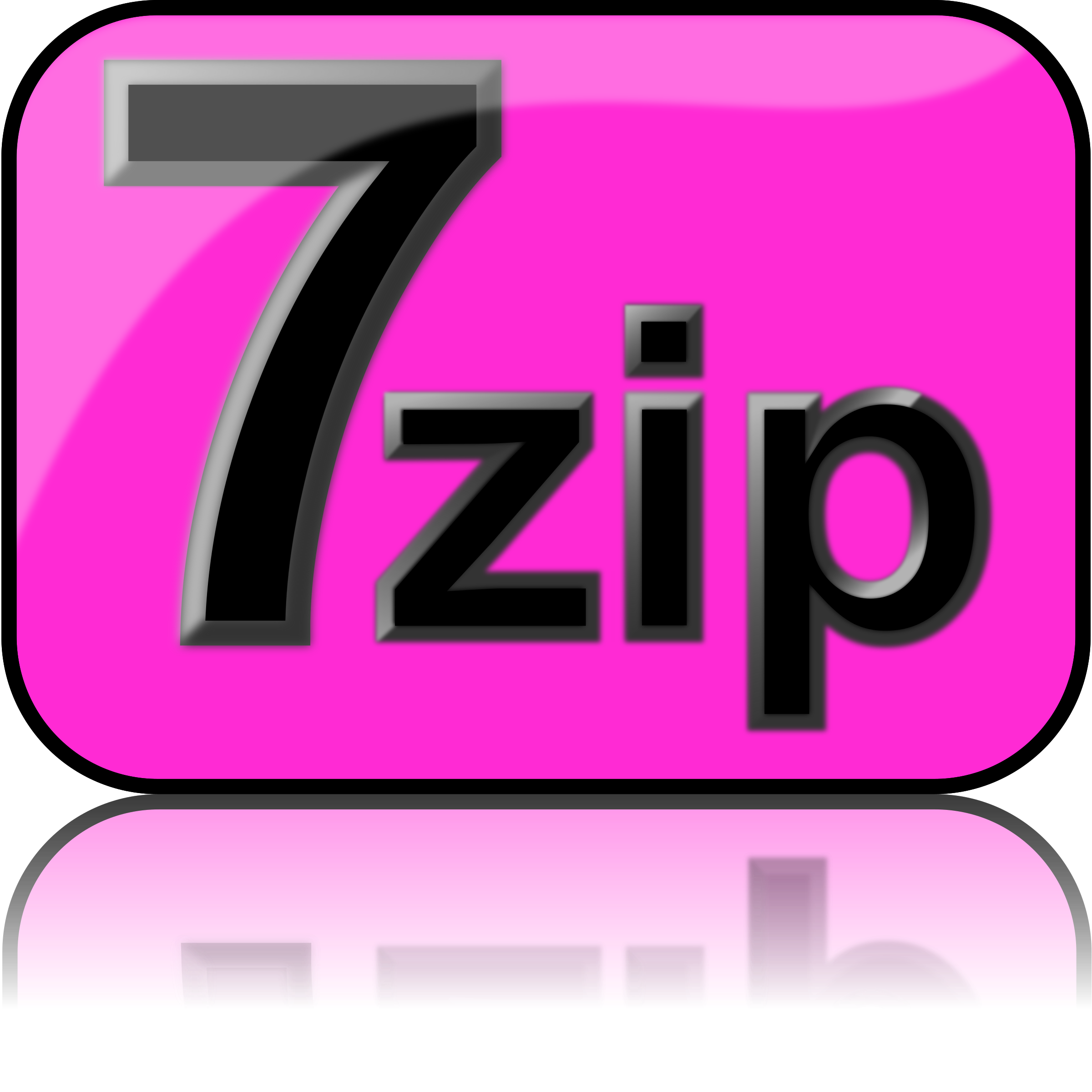 7zip Glossy Extrude Magenta by kg