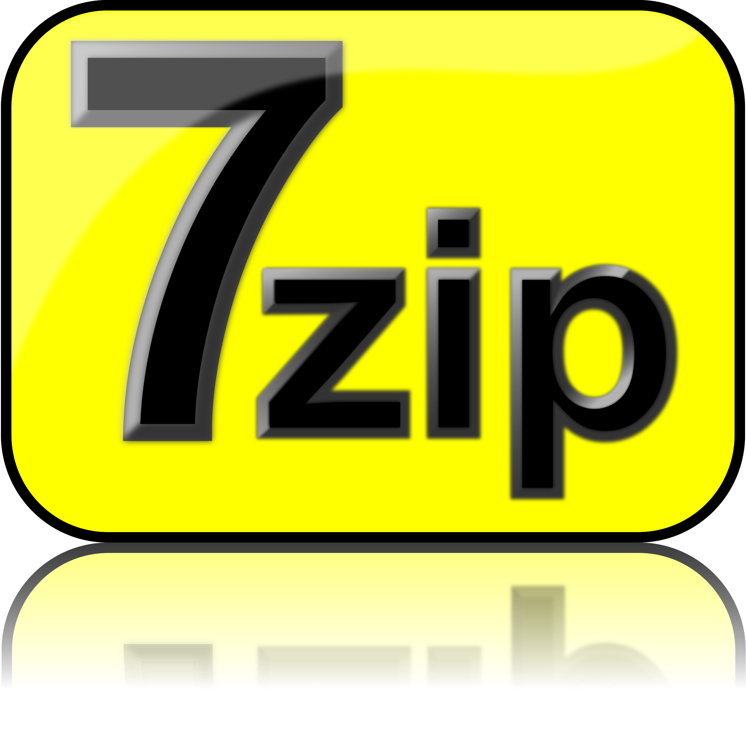 7zip Glossy Extrude Yellow by kg