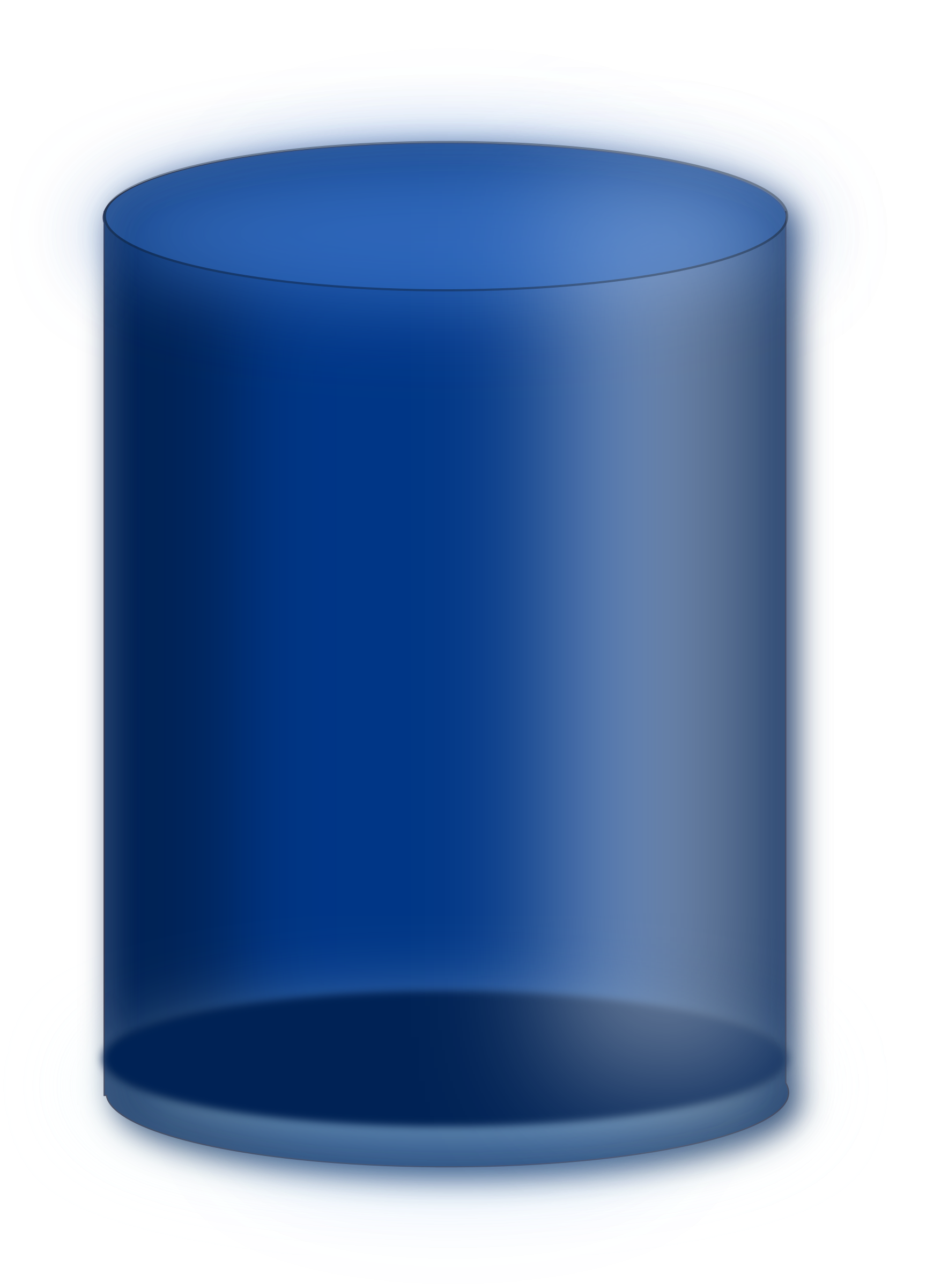 Blue cylinder by gblas.ivan