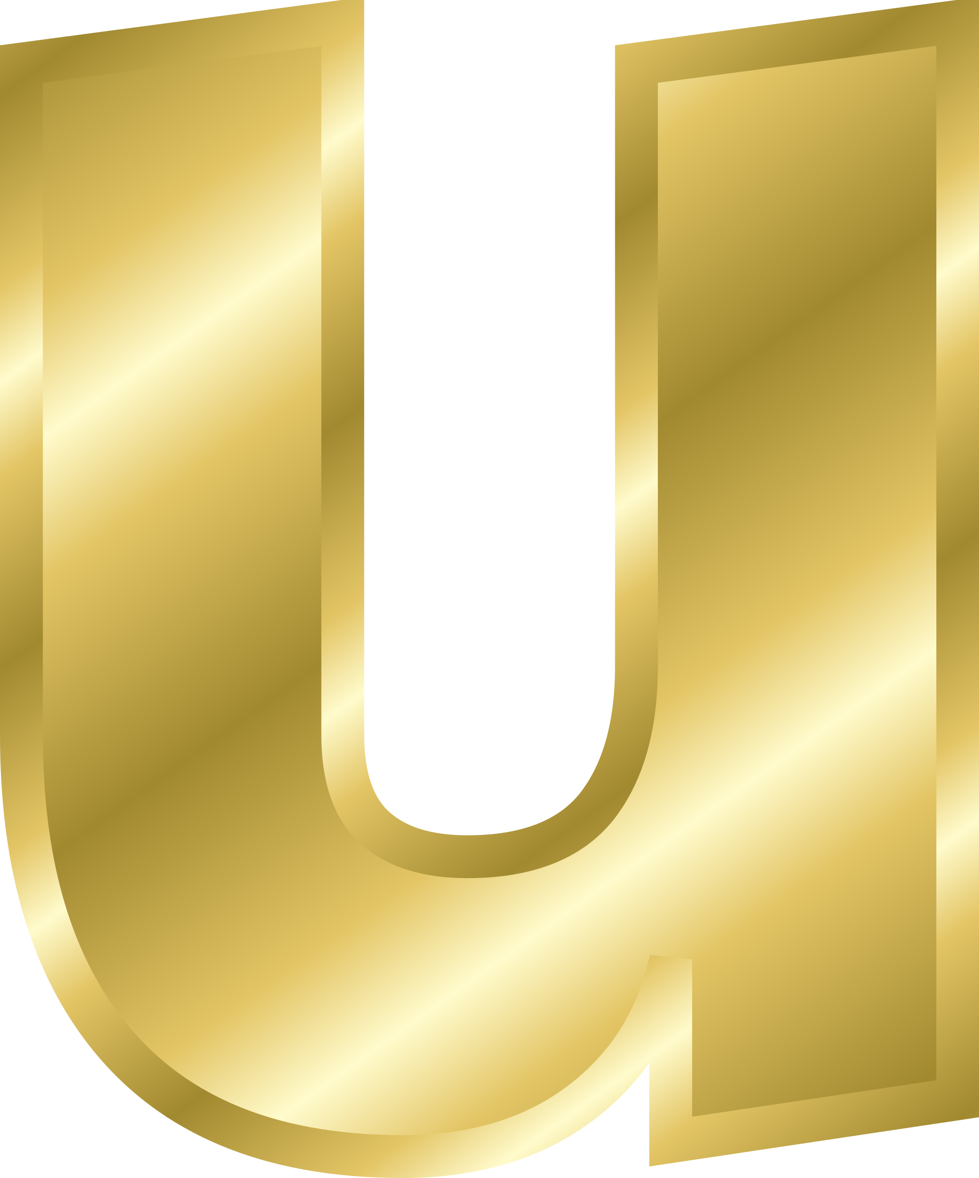 Clipart - Effect Letters alphabet gold