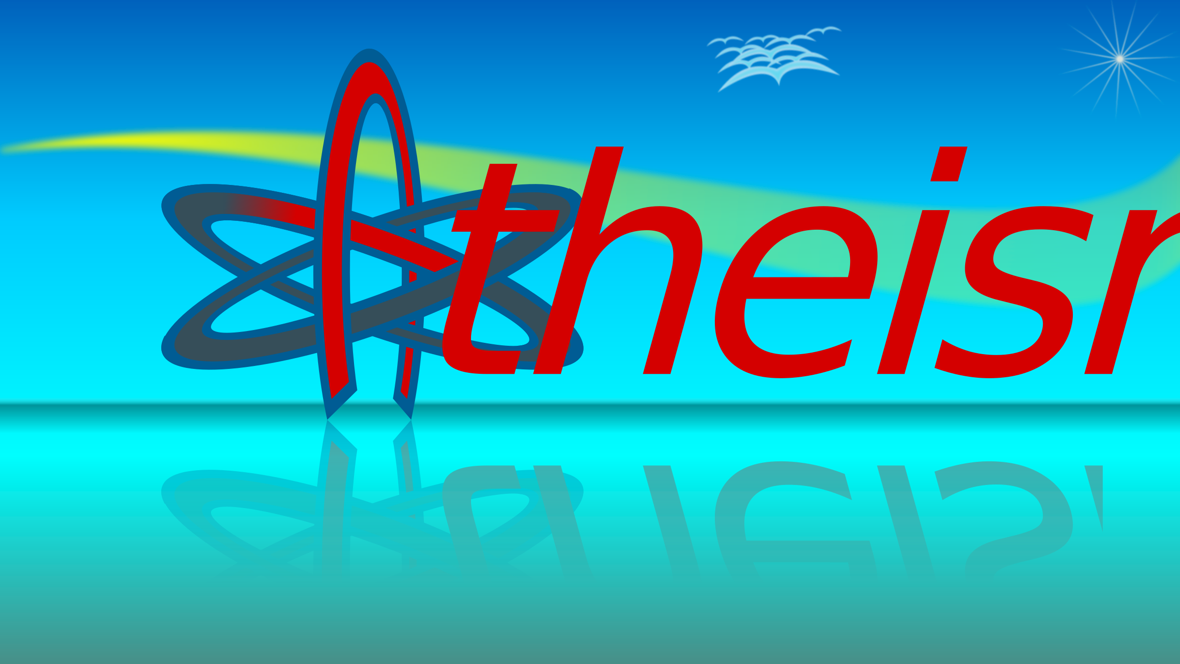 Atom Of Atheism Wallpaper 9by16 by kg