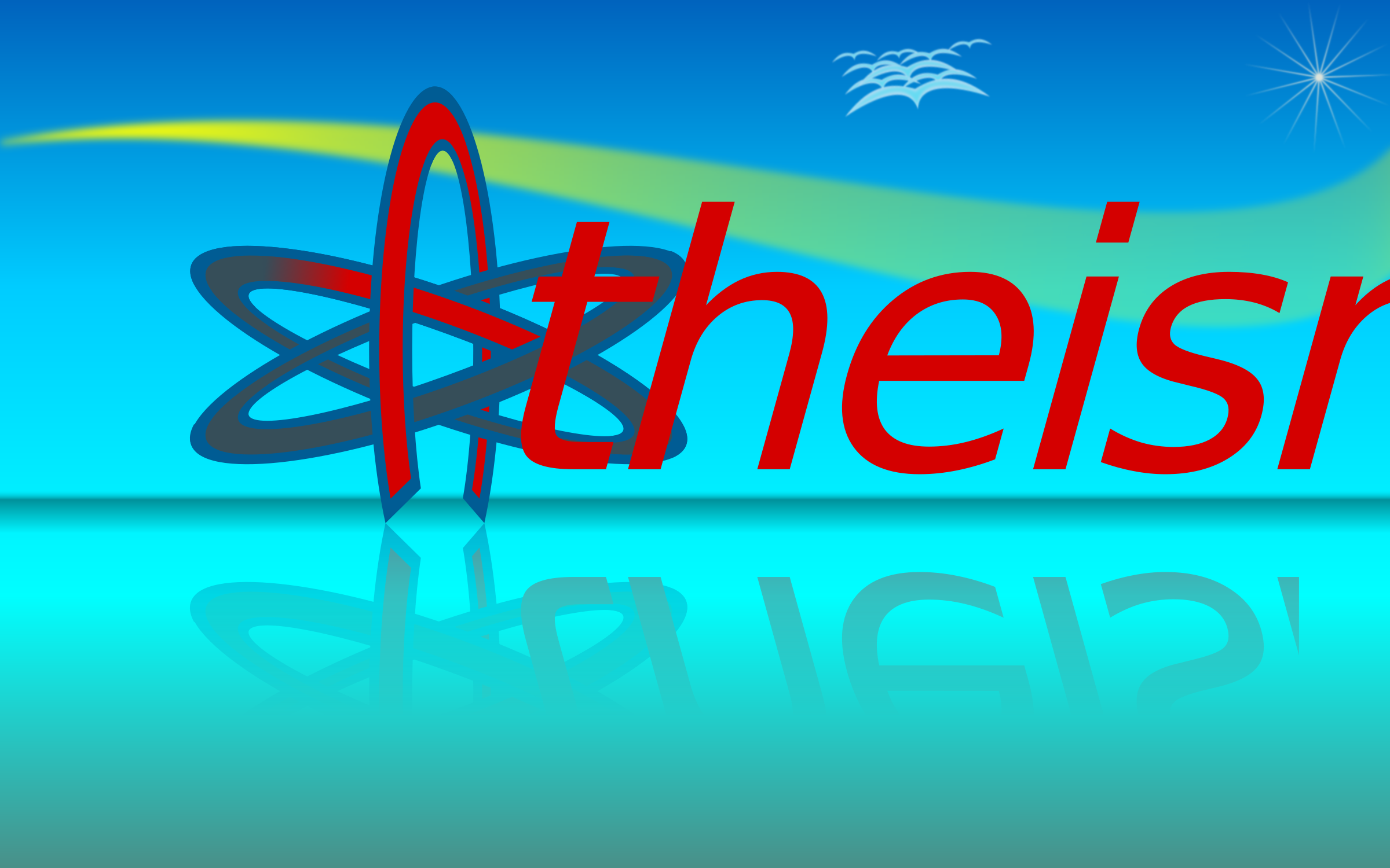 Atom Of Atheism Wallpaper 10by16 by kg