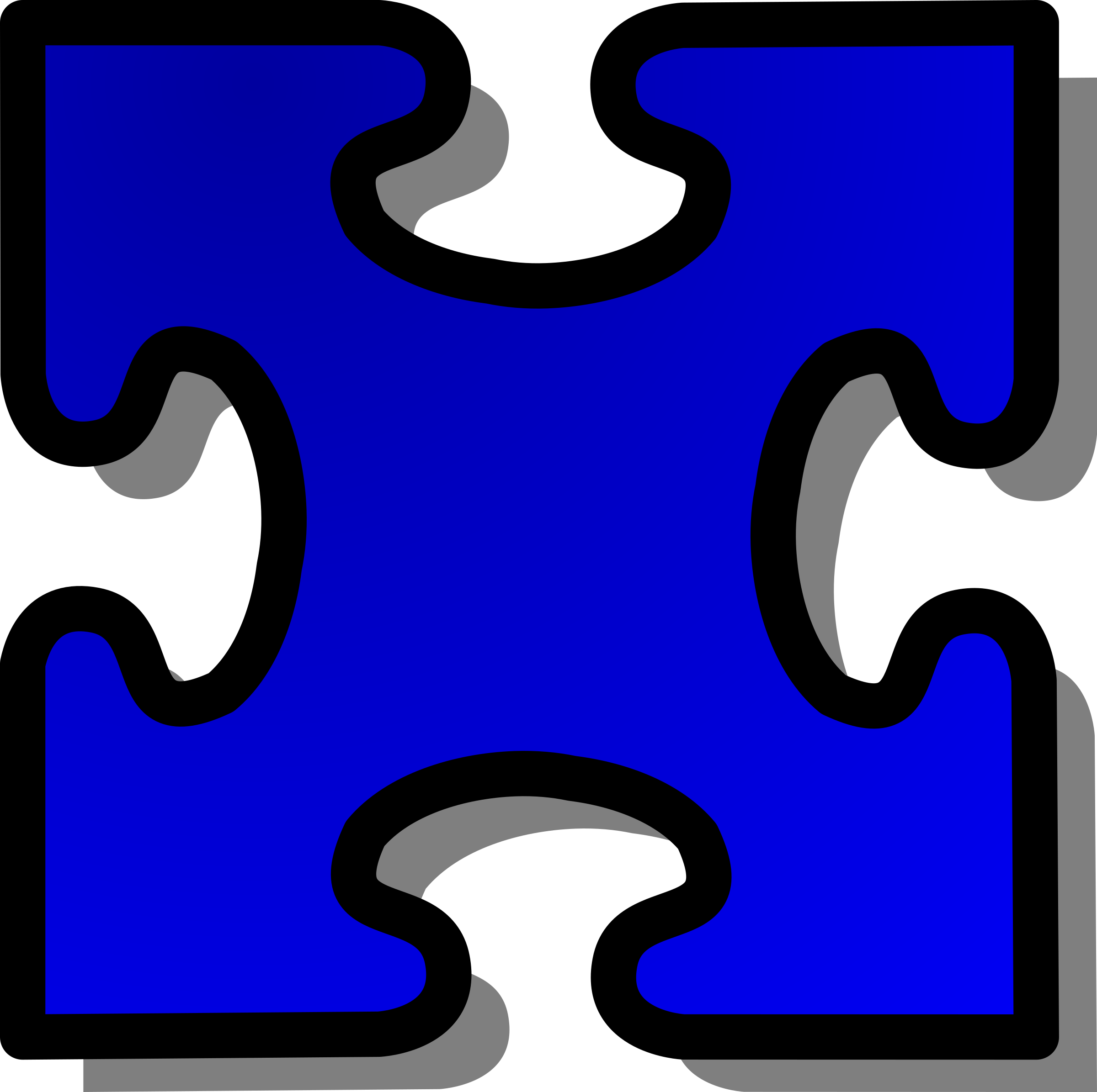 Blue Jigsaw piece 03 by nicubunu