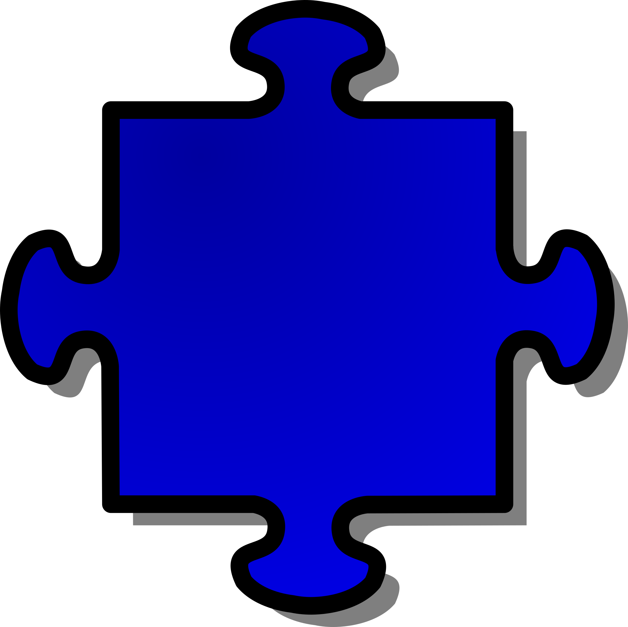 Blue Jigsaw piece 04 by nicubunu