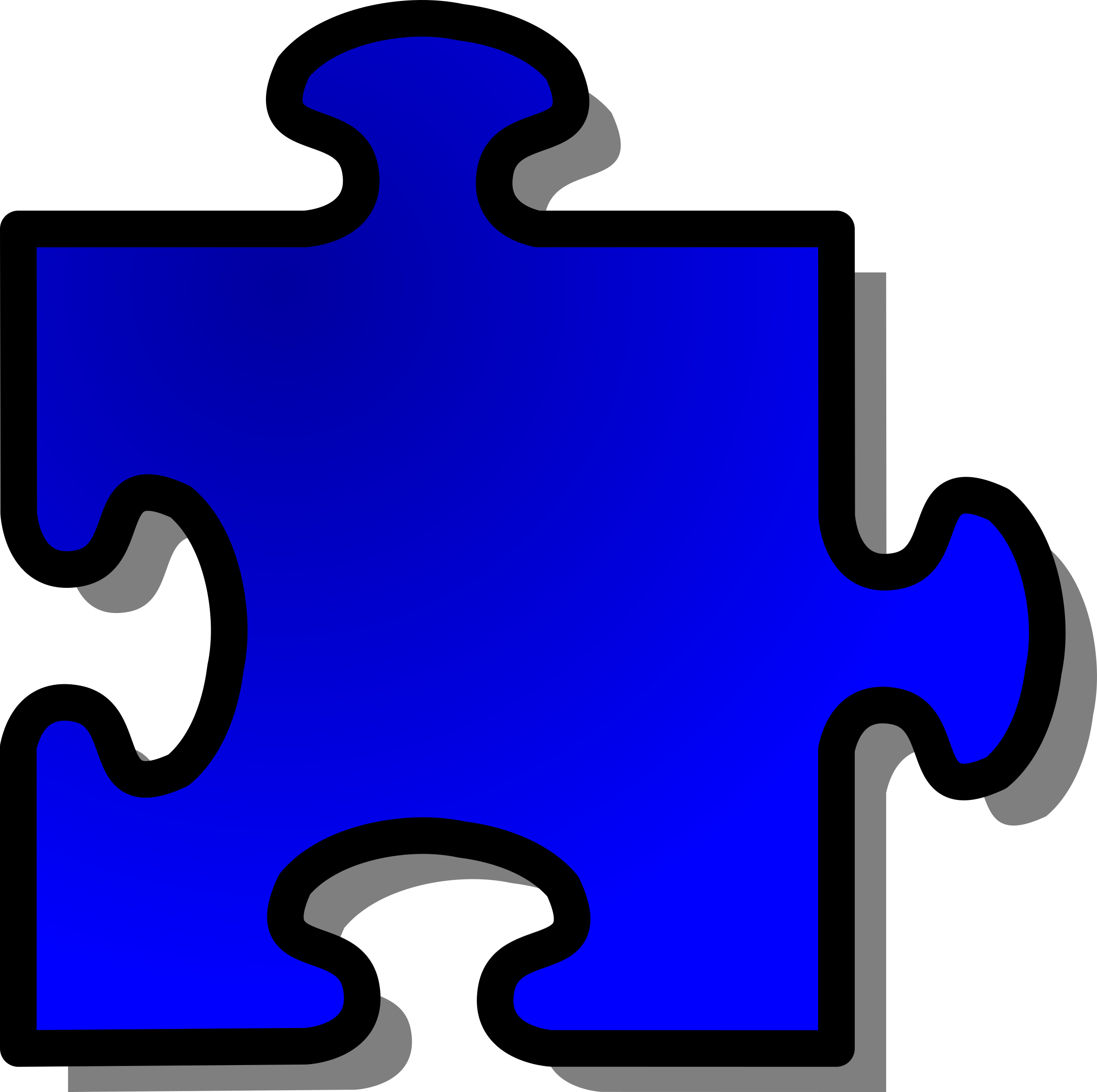 Blue Jigsaw piece 09 by nicubunu