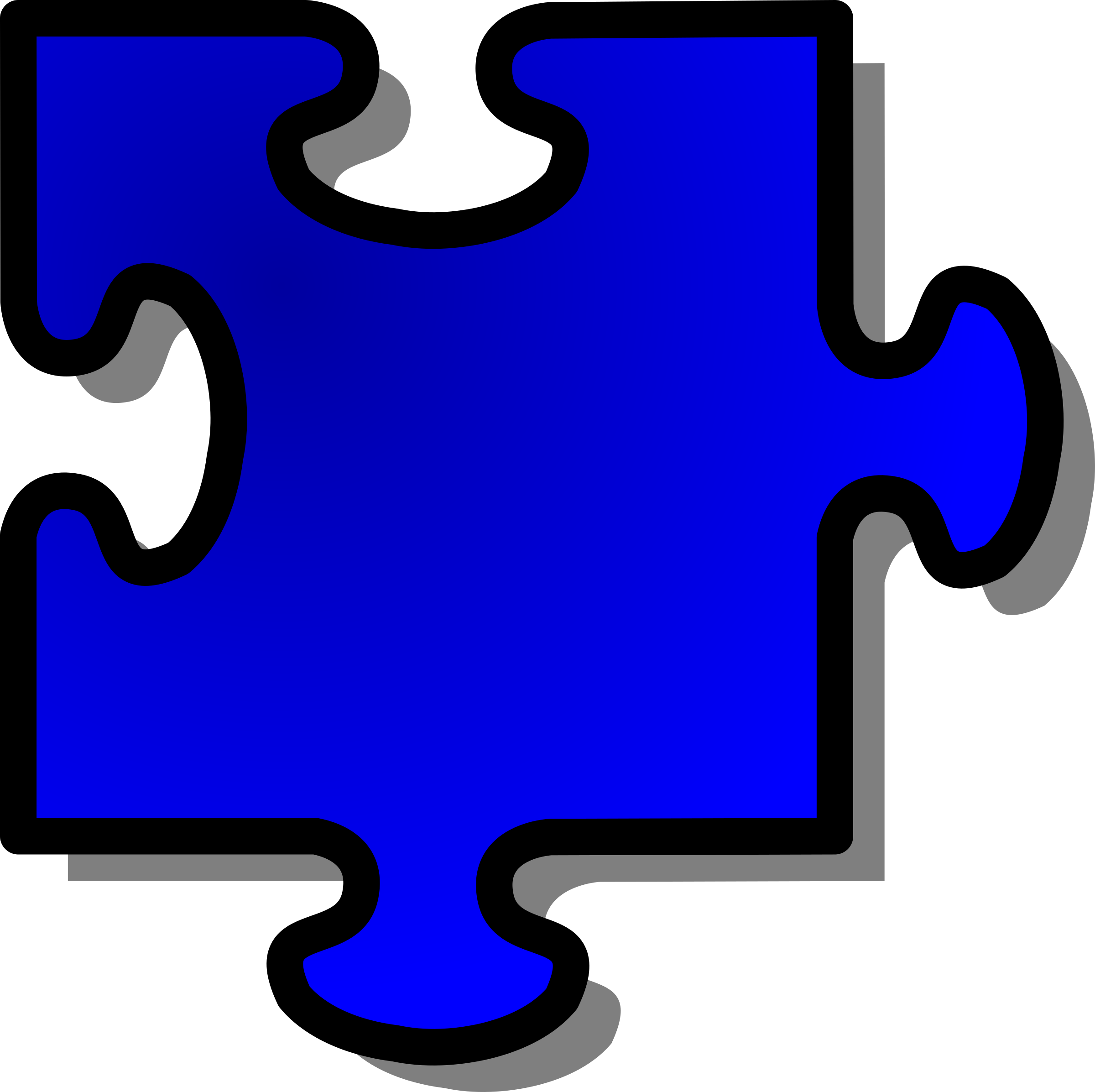 Blue Jigsaw piece 10 by nicubunu