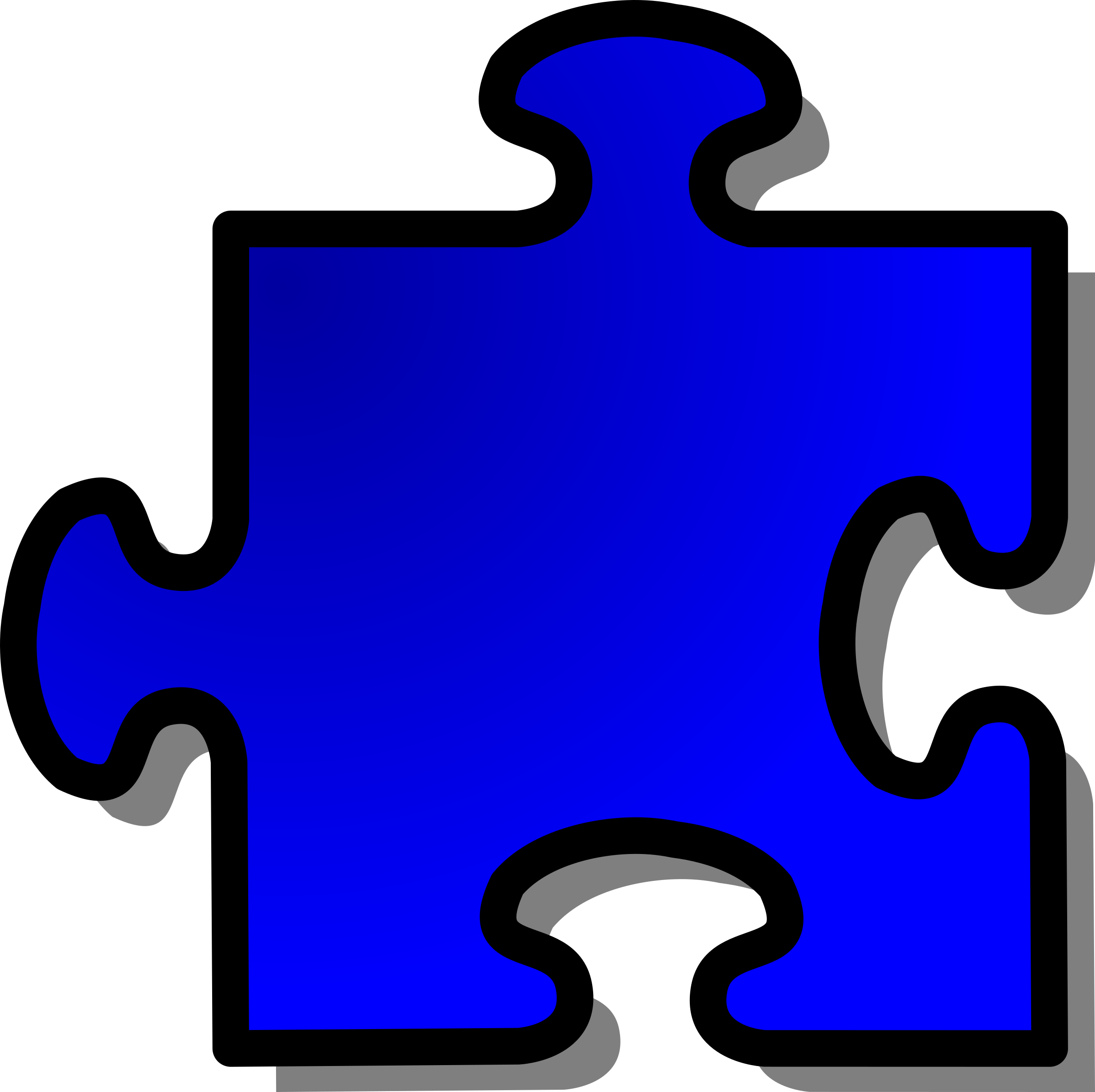 Blue Jigsaw piece 12 by nicubunu