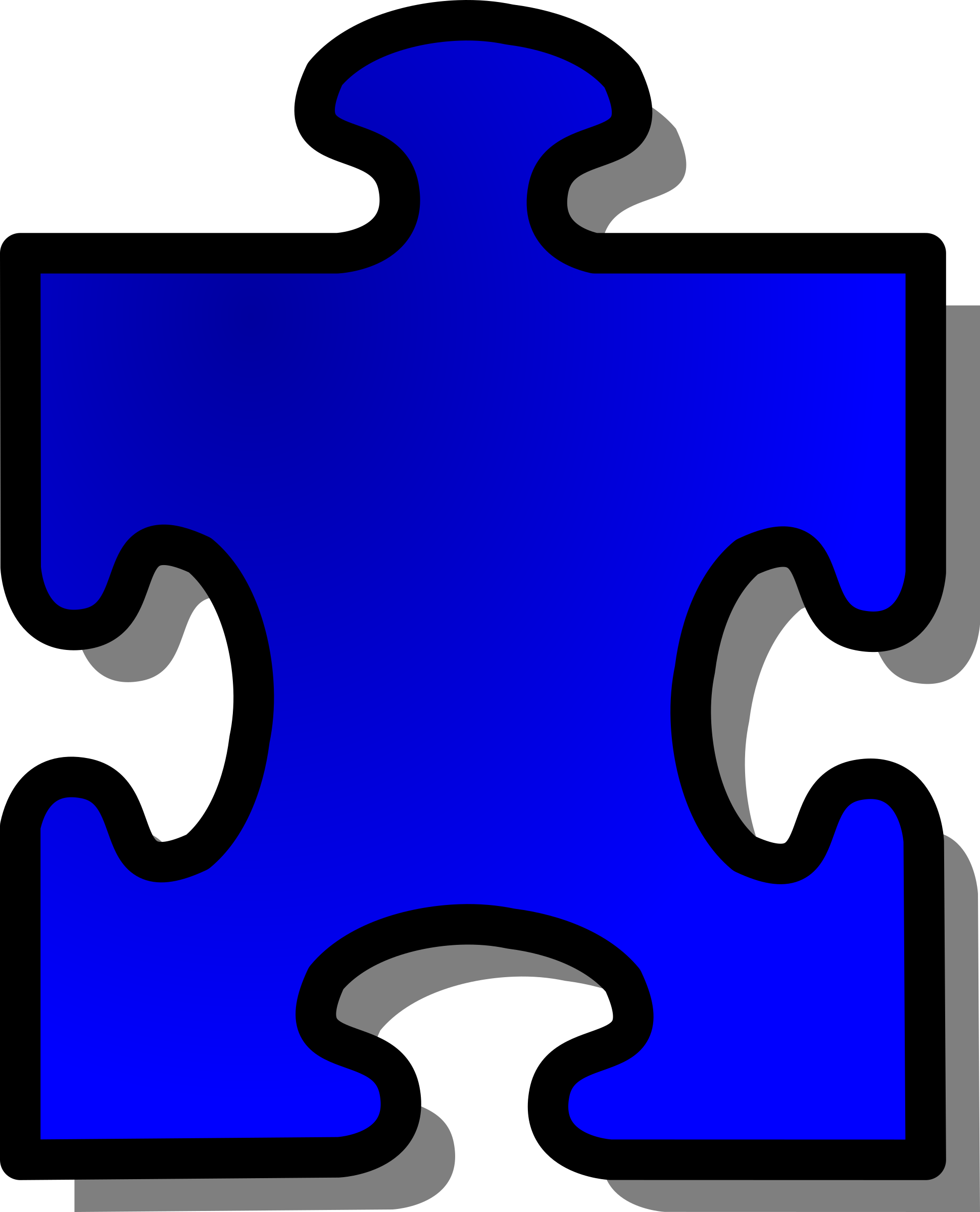 Blue Jigsaw piecev13 by nicubunu