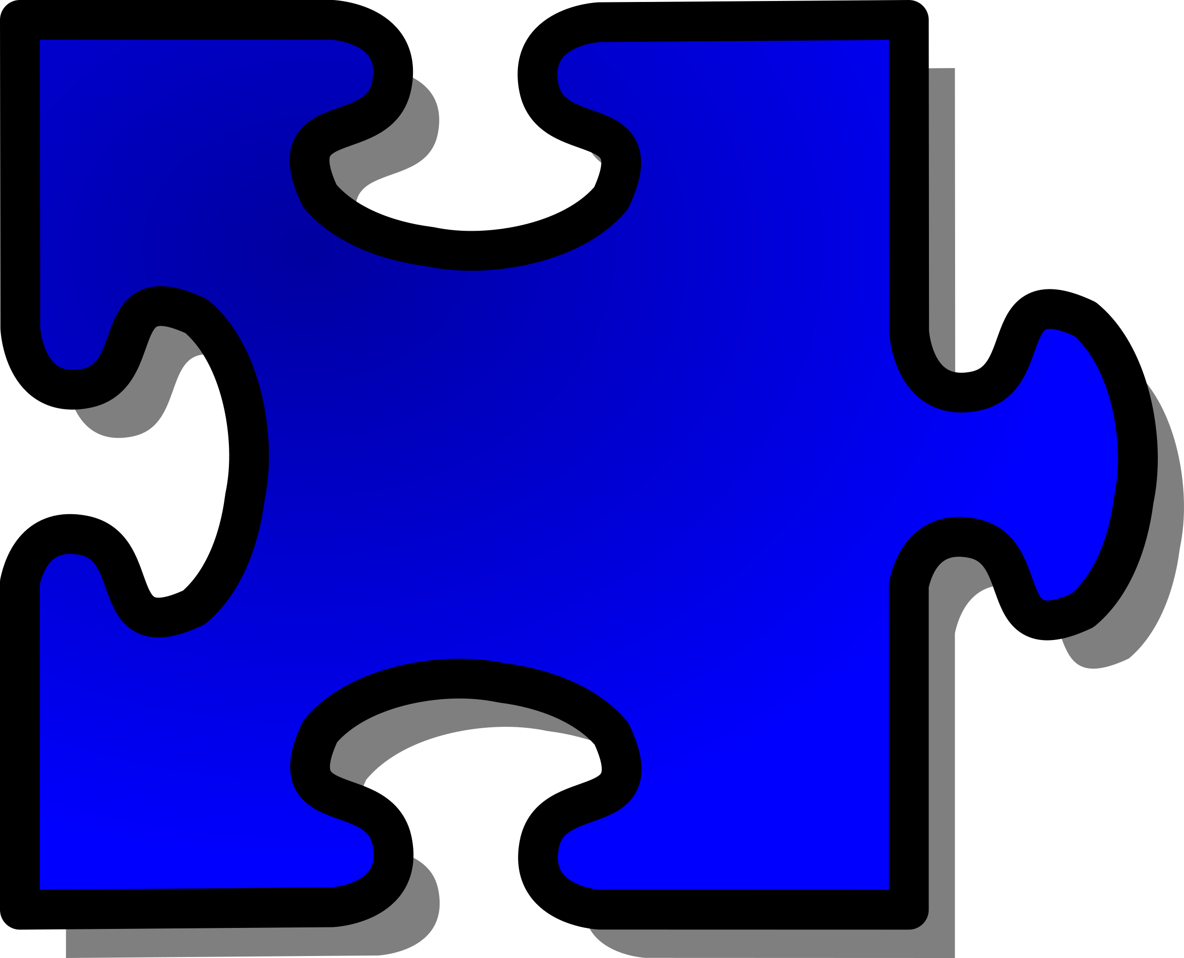 Blue Jigsaw piece 14 by nicubunu