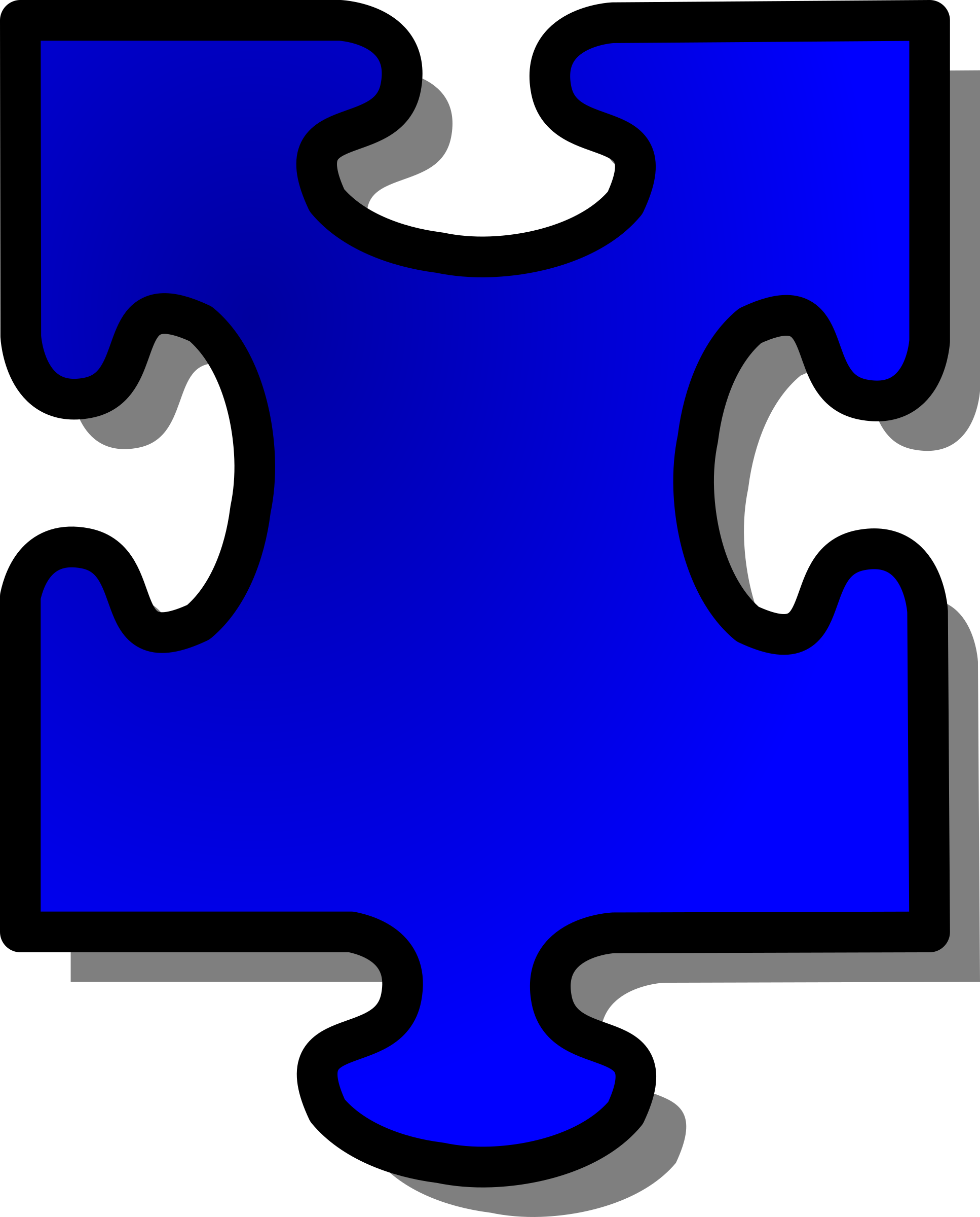 Blue Jigsaw piece 15 by nicubunu