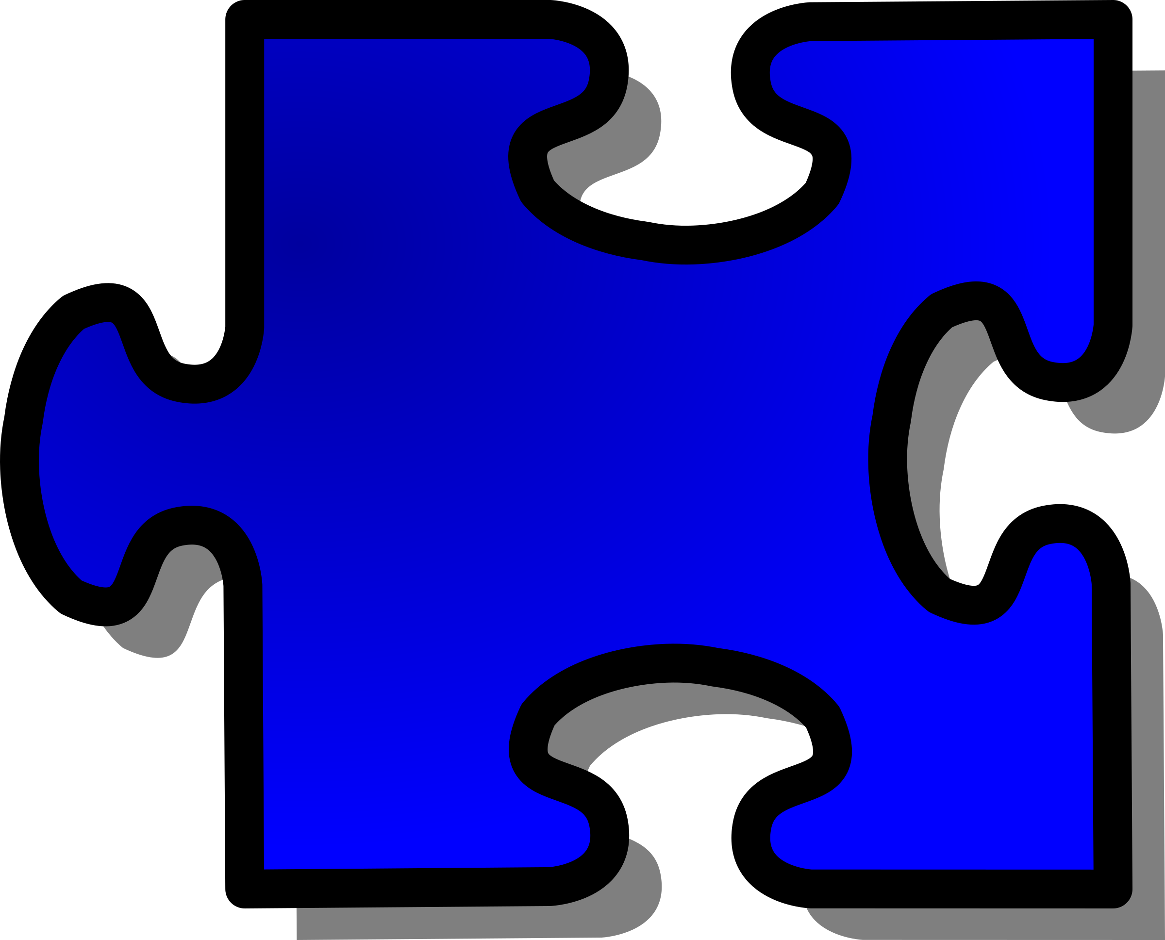 Blue Jigsaw piece 16 by nicubunu