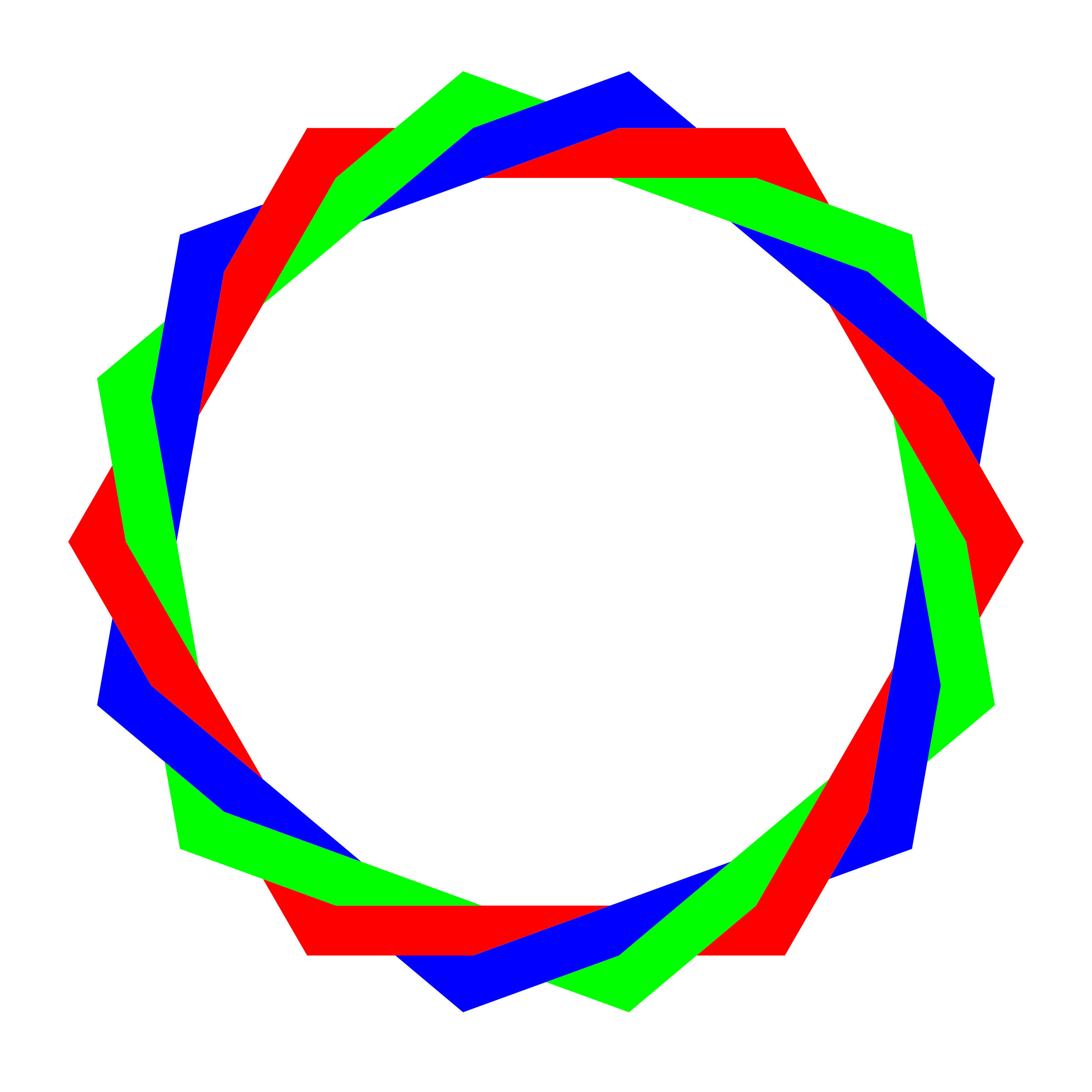 rgb octodecagram by 10binary