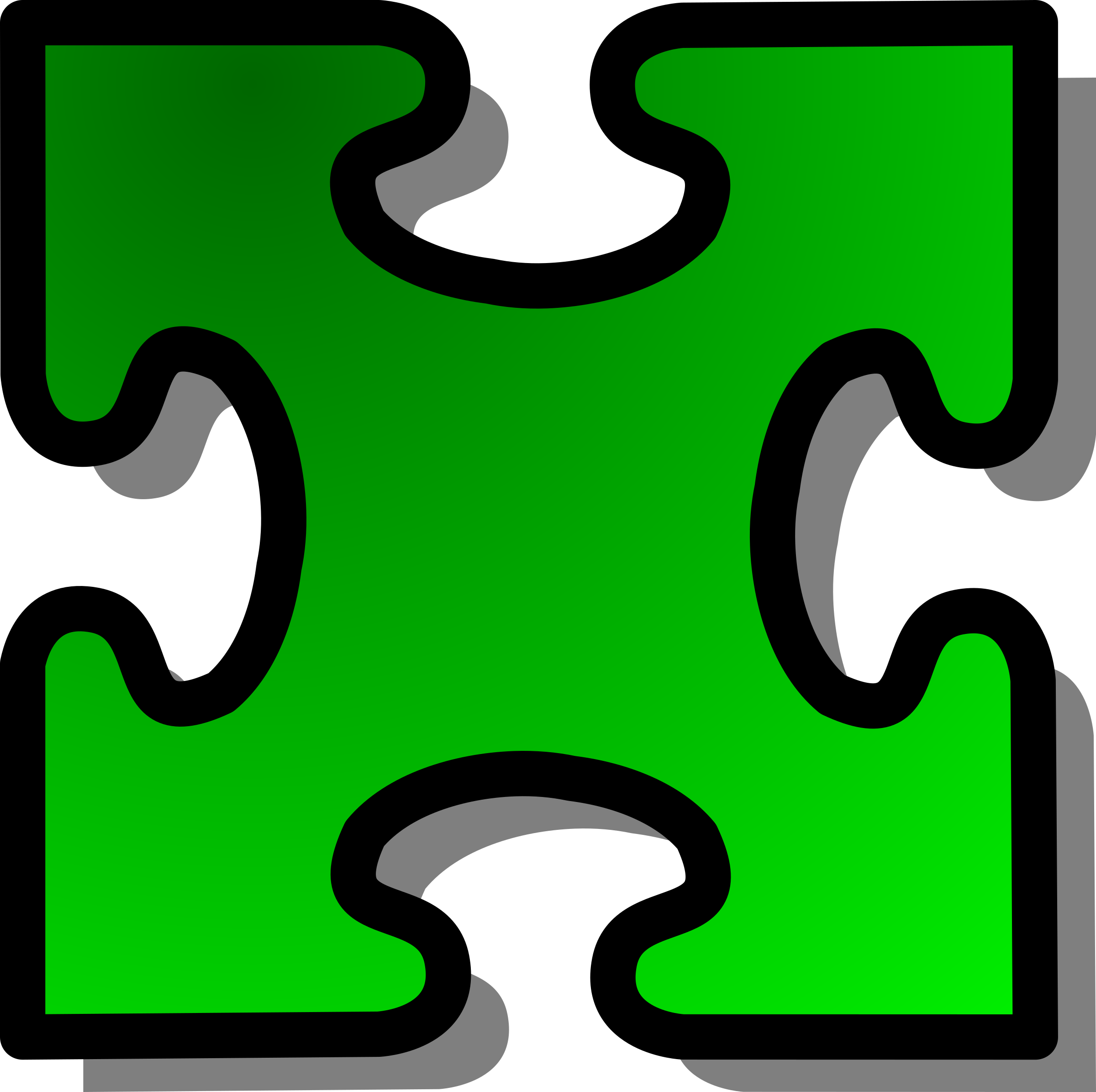 Green Jigsaw piece 03 by nicubunu