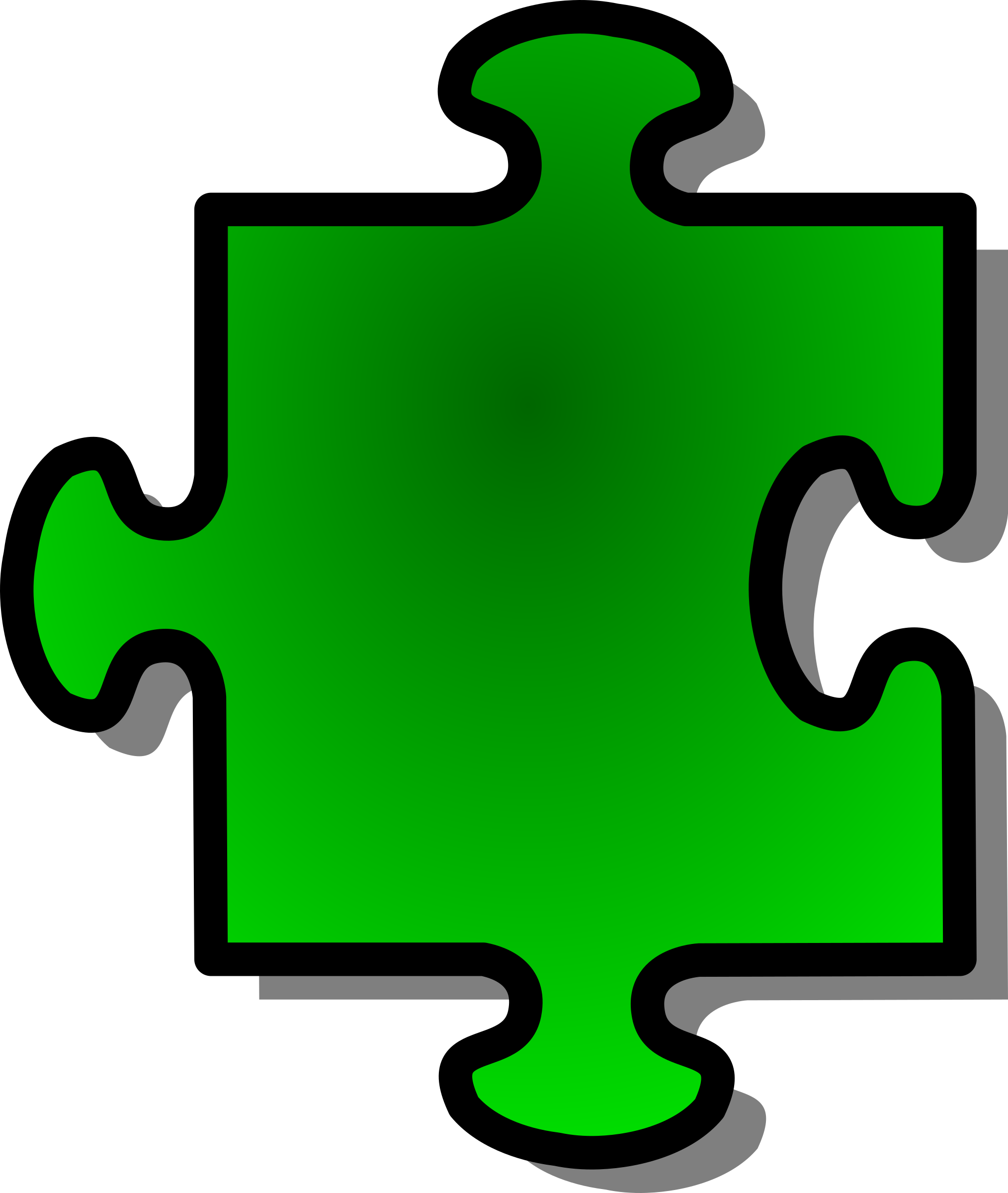 Green Jigsaw piece 07 by nicubunu