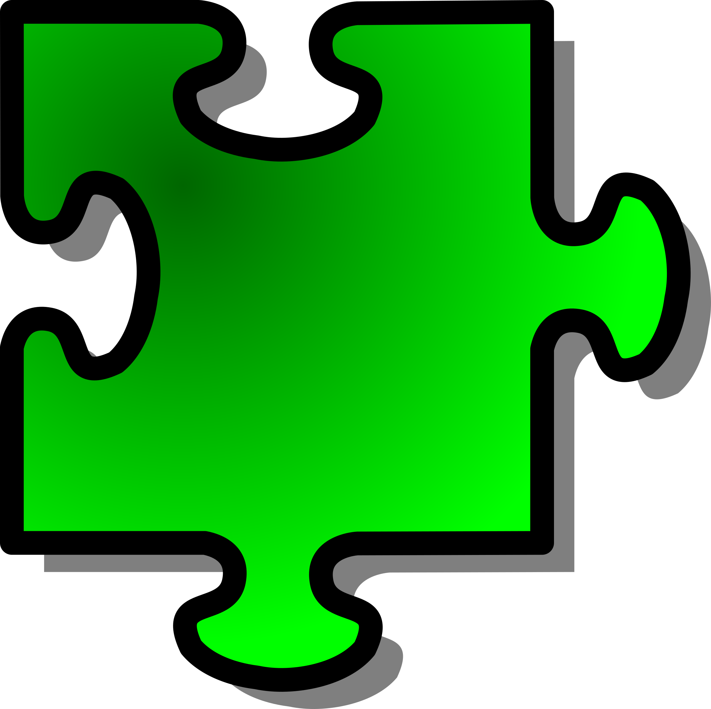 Green Jigsaw piece 10 by nicubunu