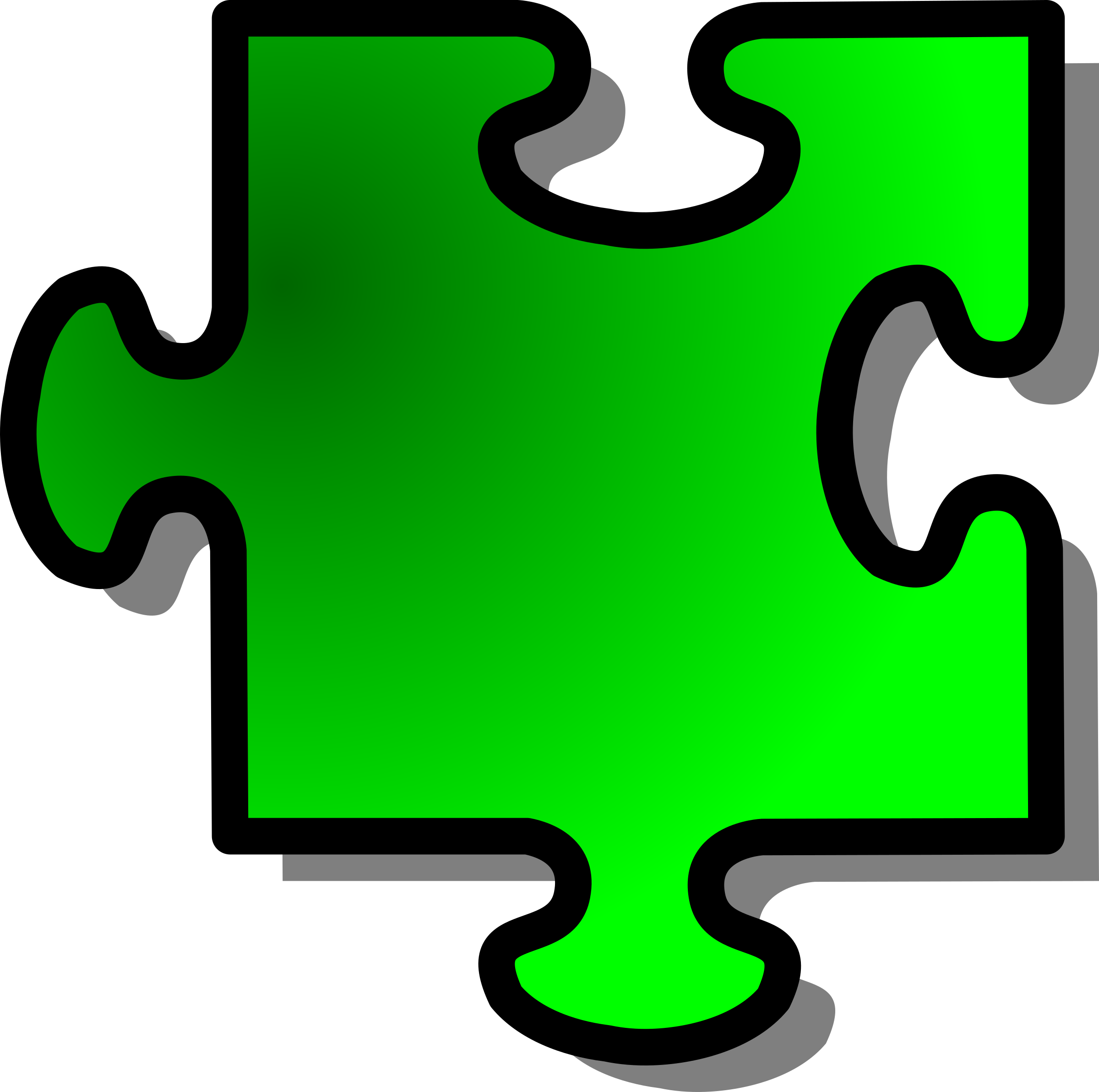 Green Jigsaw piece 11 by nicubunu