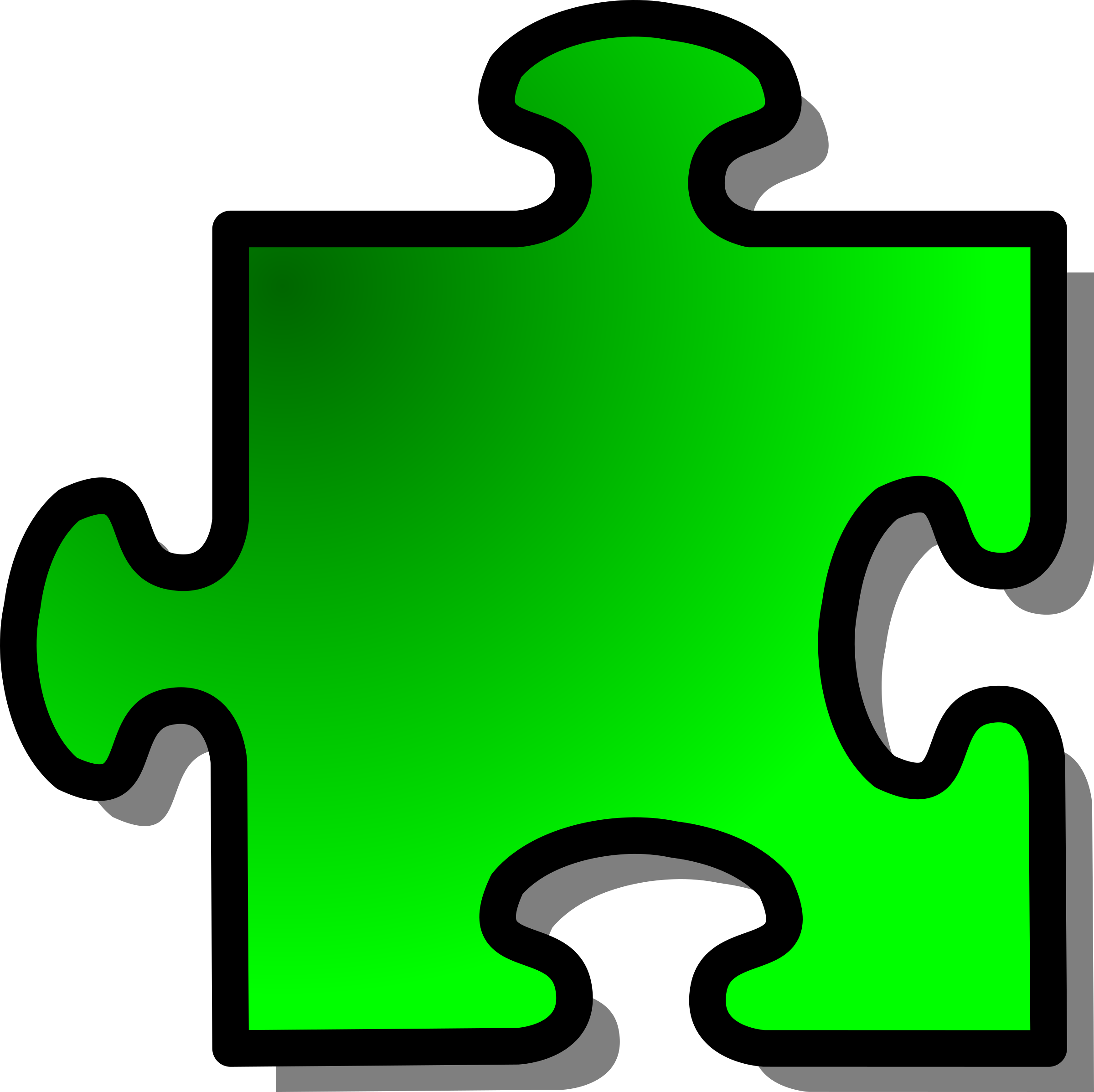 Green Jigsaw piece 12 by nicubunu