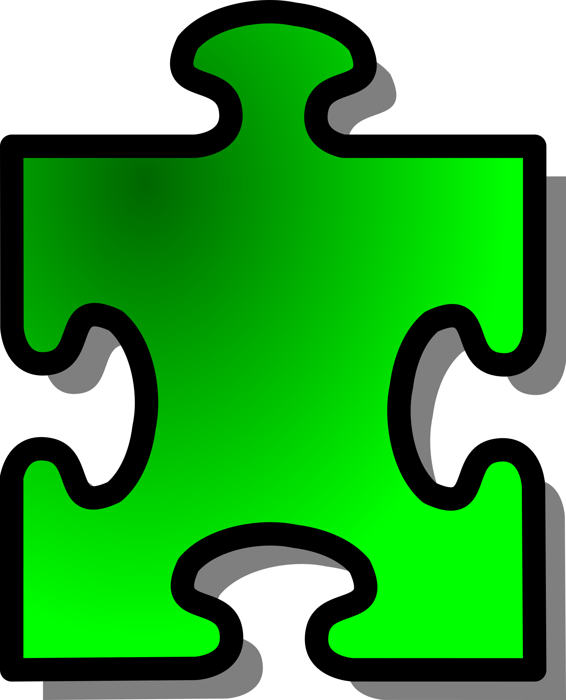 Green Jigsaw piece 13 by nicubunu
