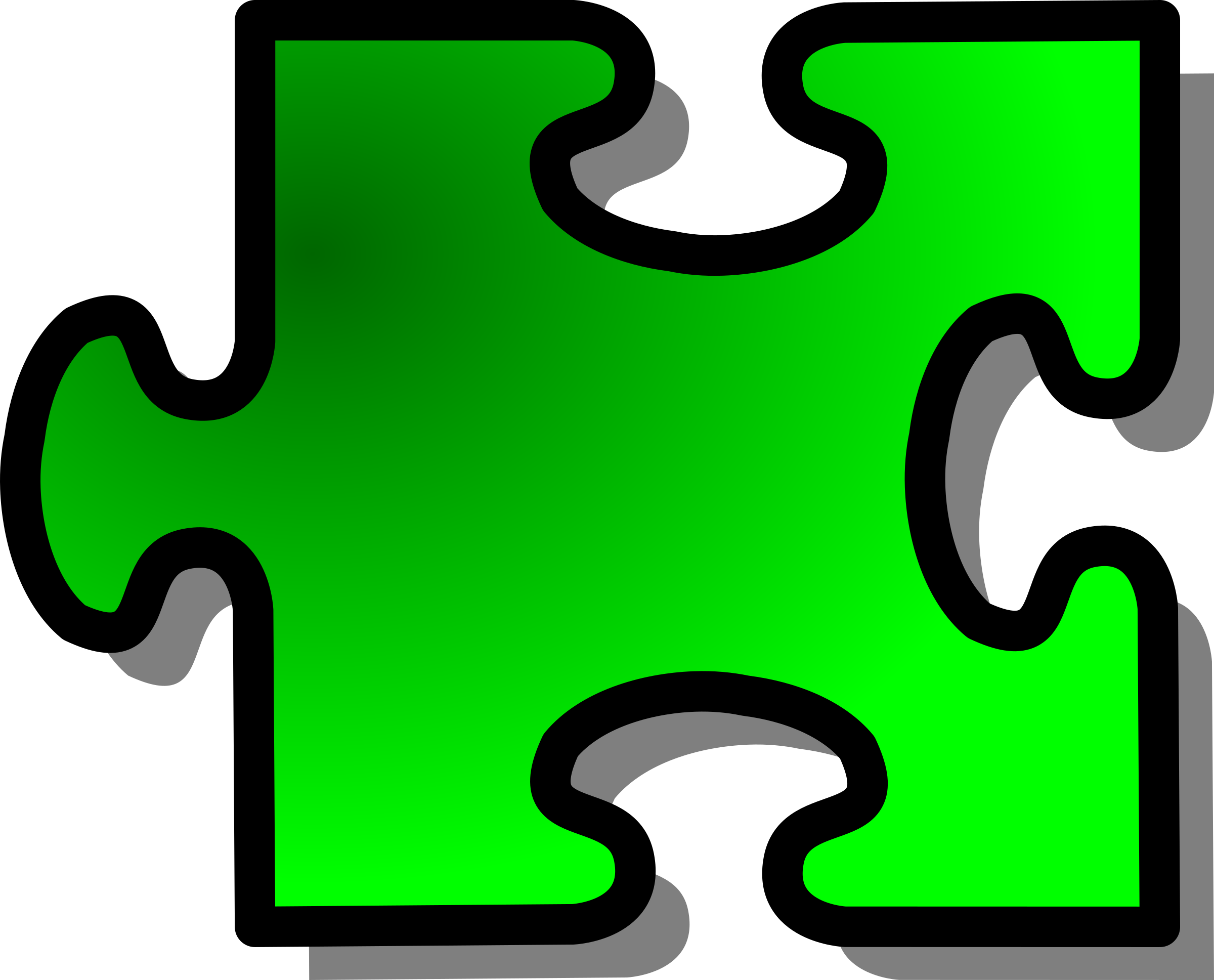 Green Jigsaw piece 16 by nicubunu