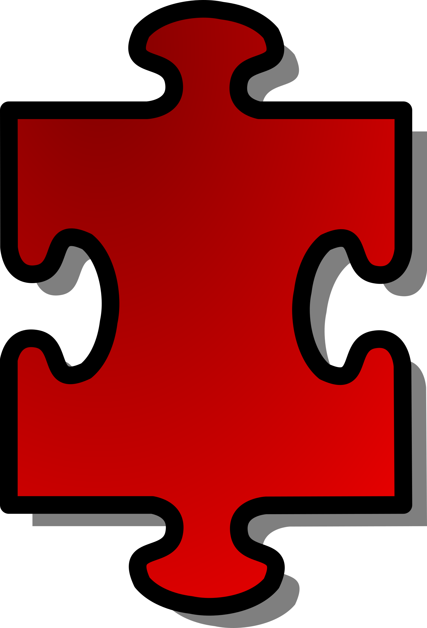 Red Jigsaw piece 01 by nicubunu