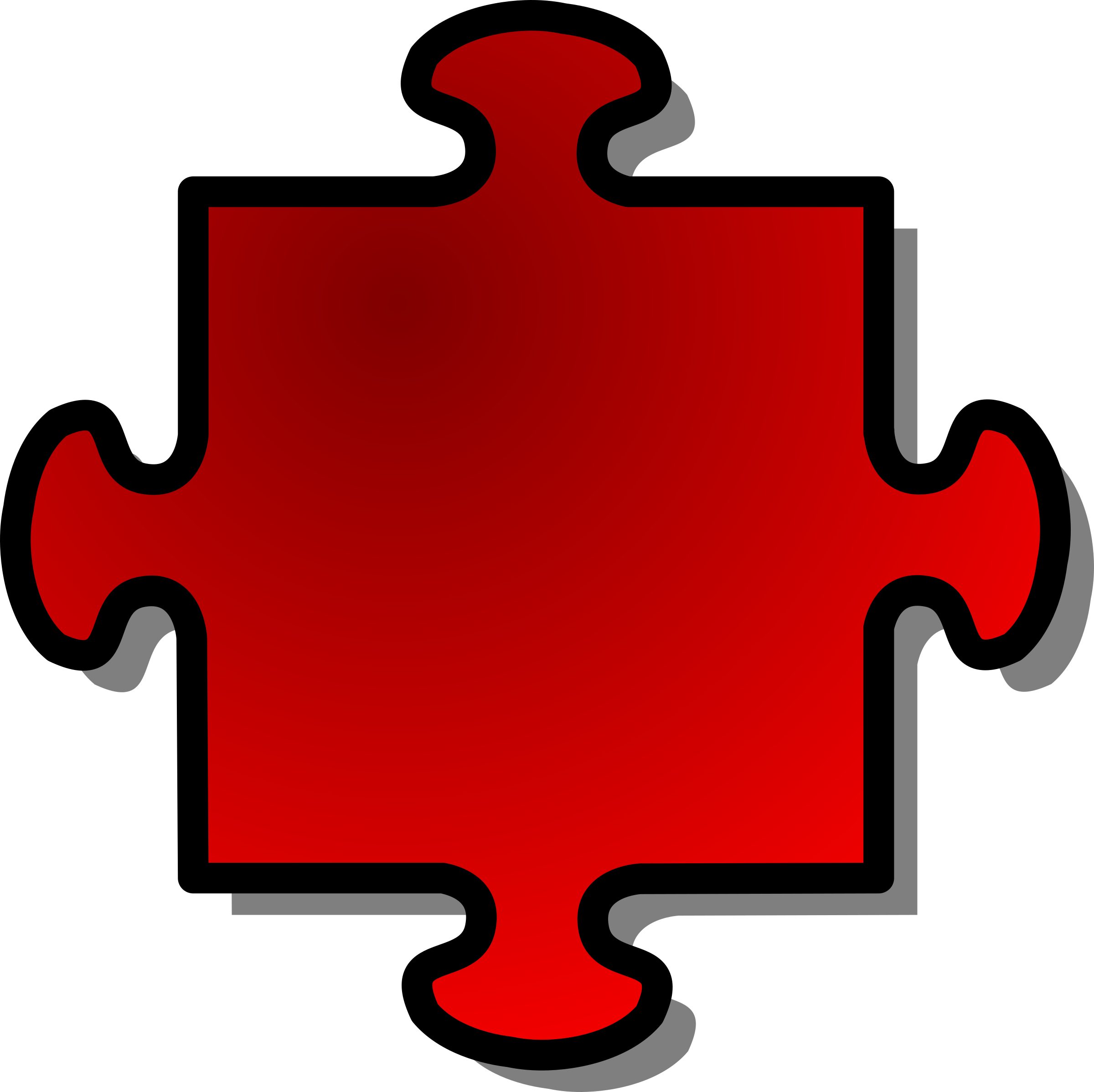 Red Jigsaw piece 04 by nicubunu
