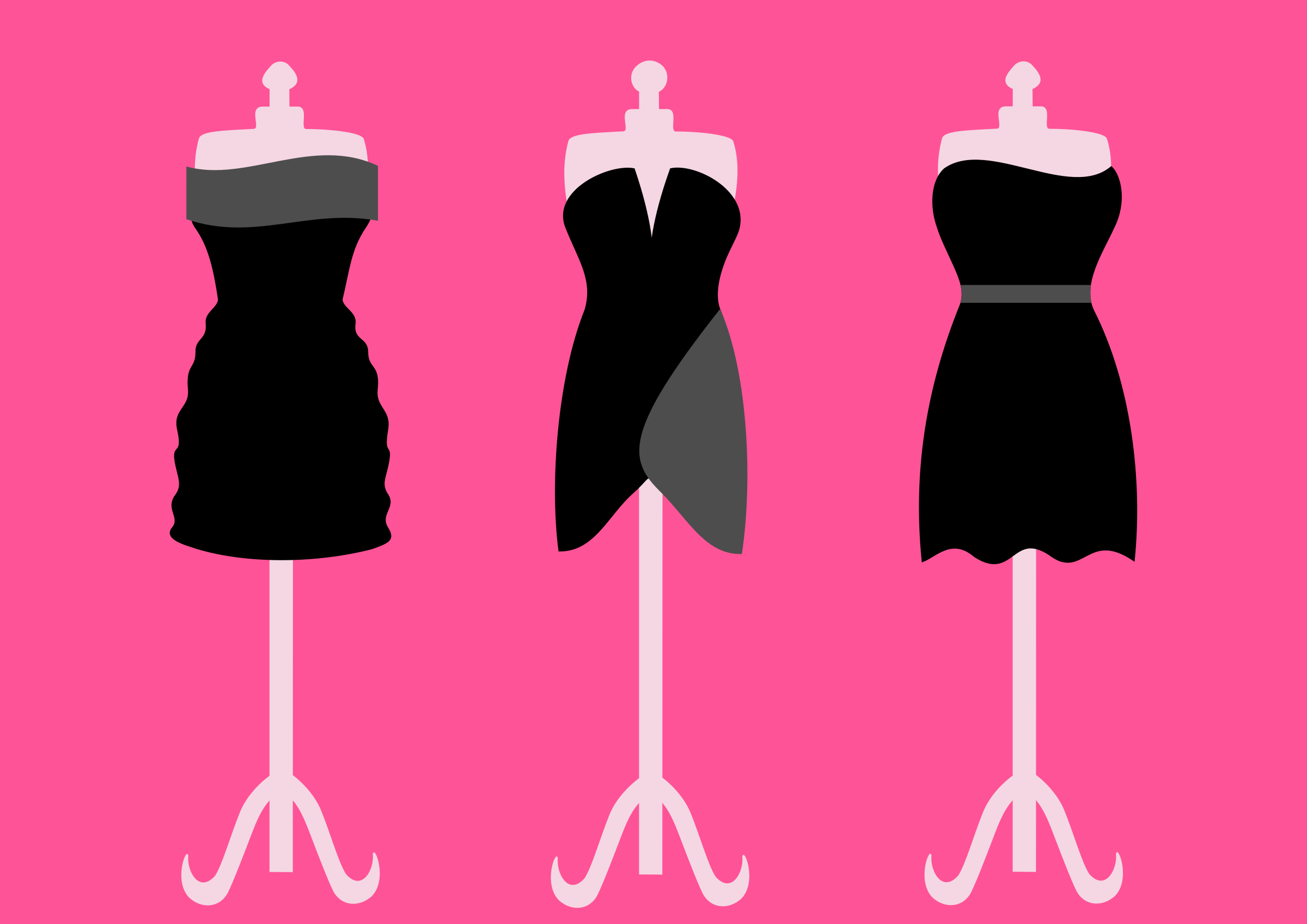 Three black dresses by Artmaker