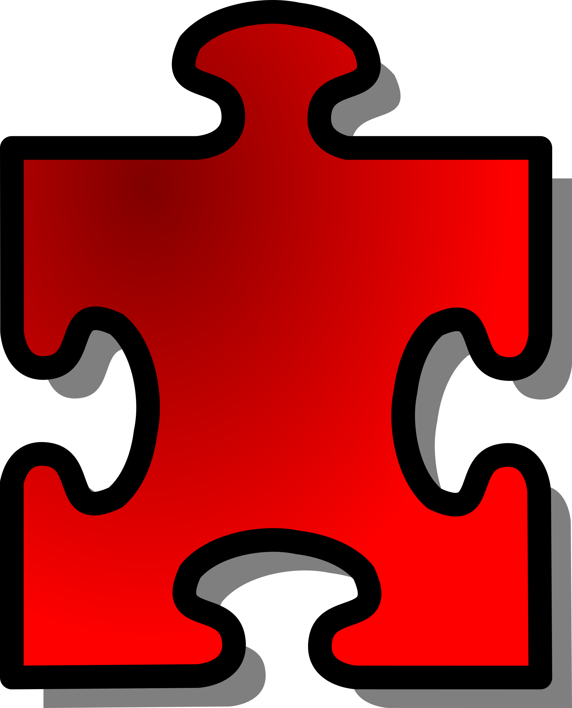 Red Jigsaw piece 13 by nicubunu