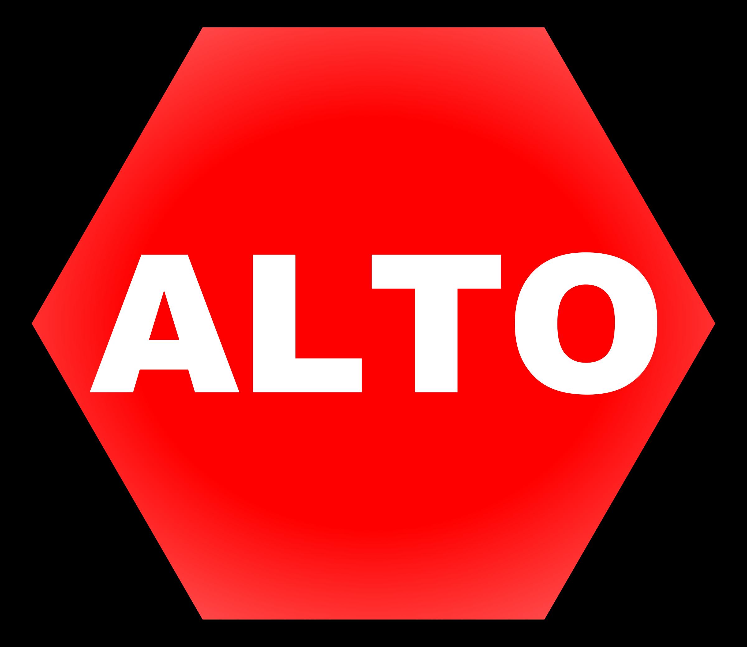 Clipart - Stop signal - Señal de Alto