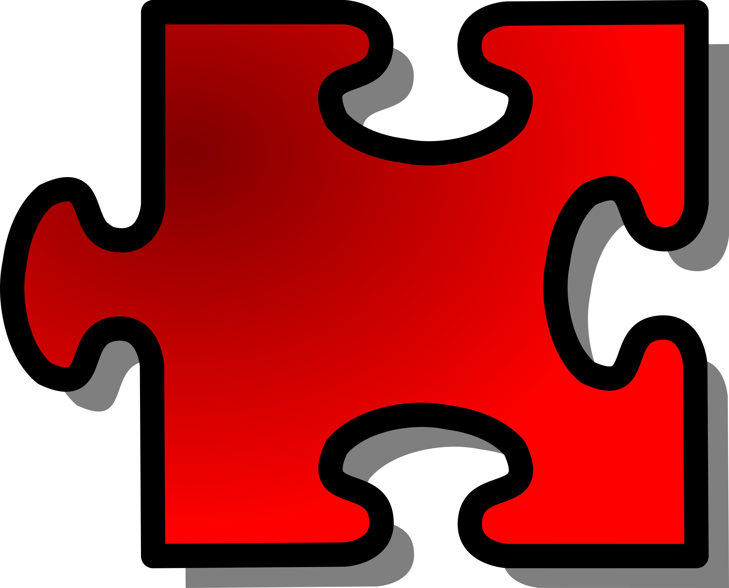 Red Jigsaw piece 16 by nicubunu