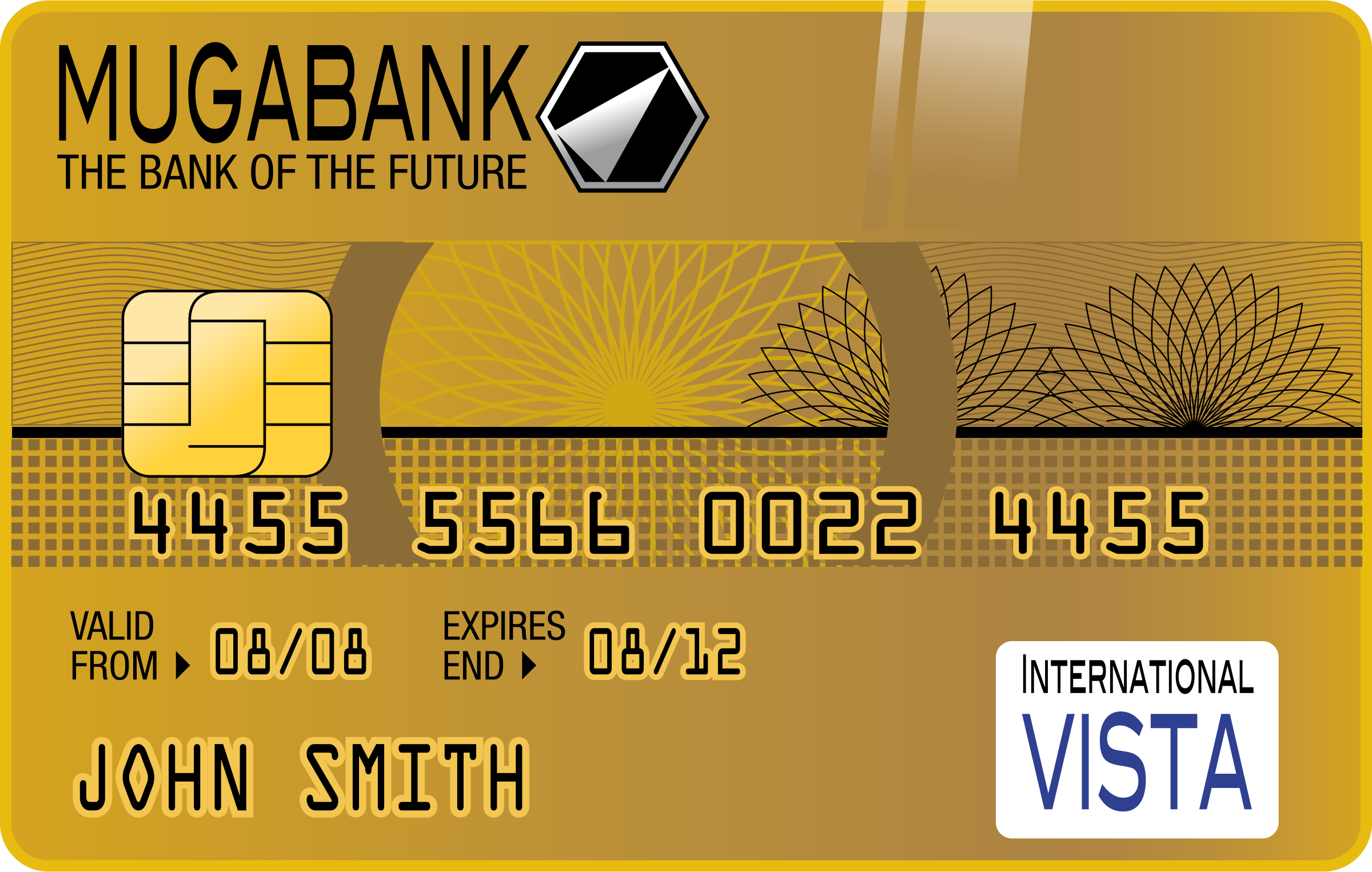 Golden Credit Card by Muga