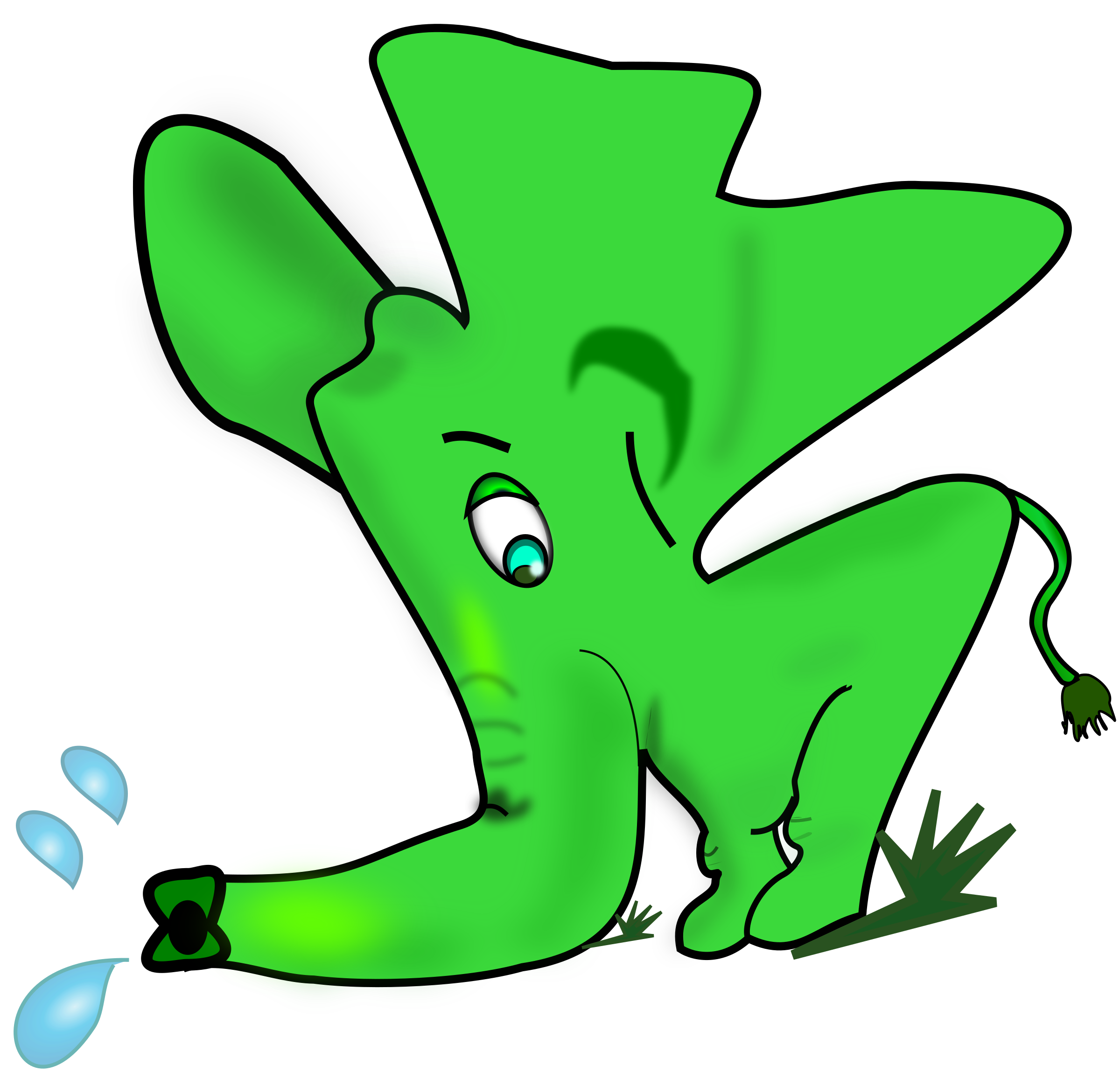 Little green elephant by helisdf