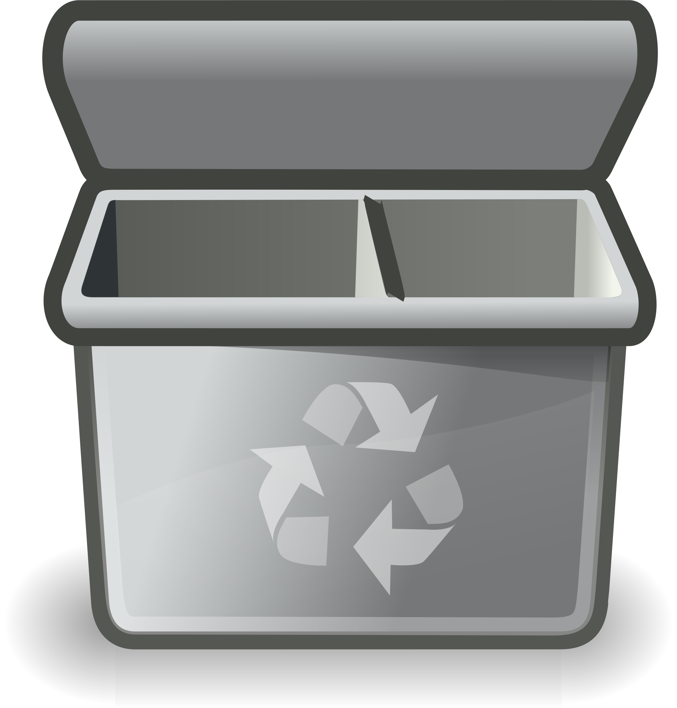 Clipart - Gray recycle bin