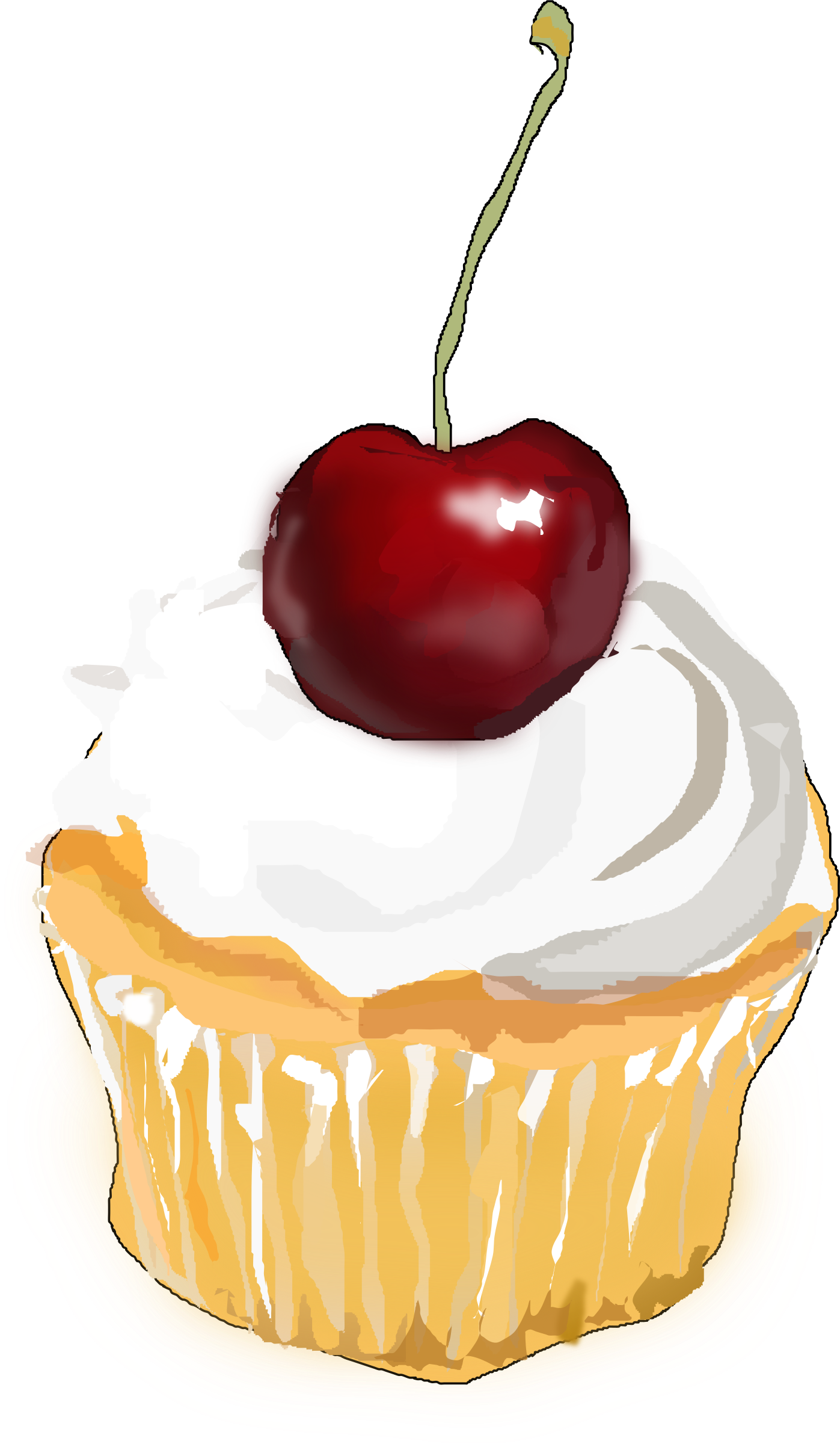 Small Cake Clipart : Clipart - Cupcake