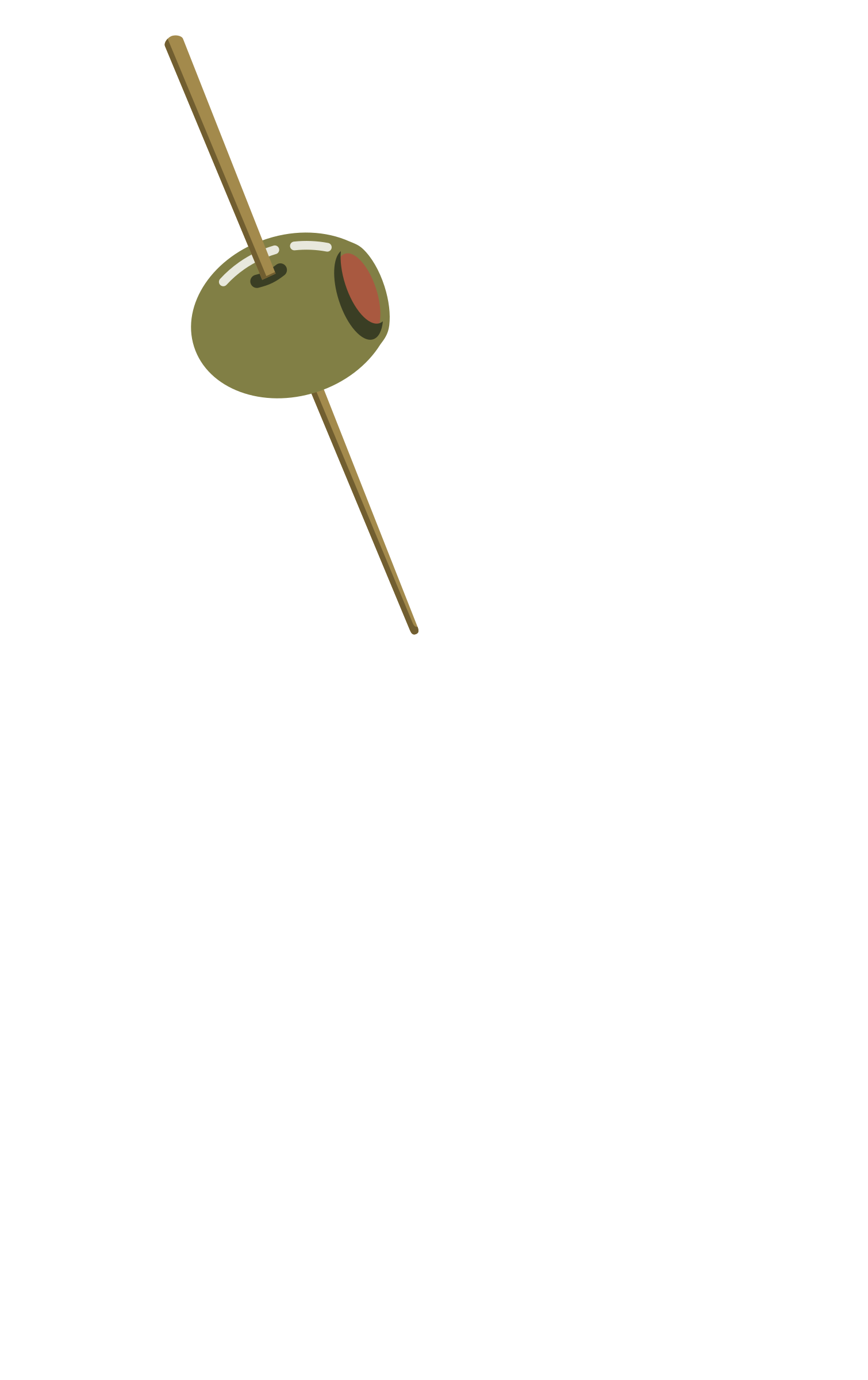 Olive on a toothpick by PrinterKiller