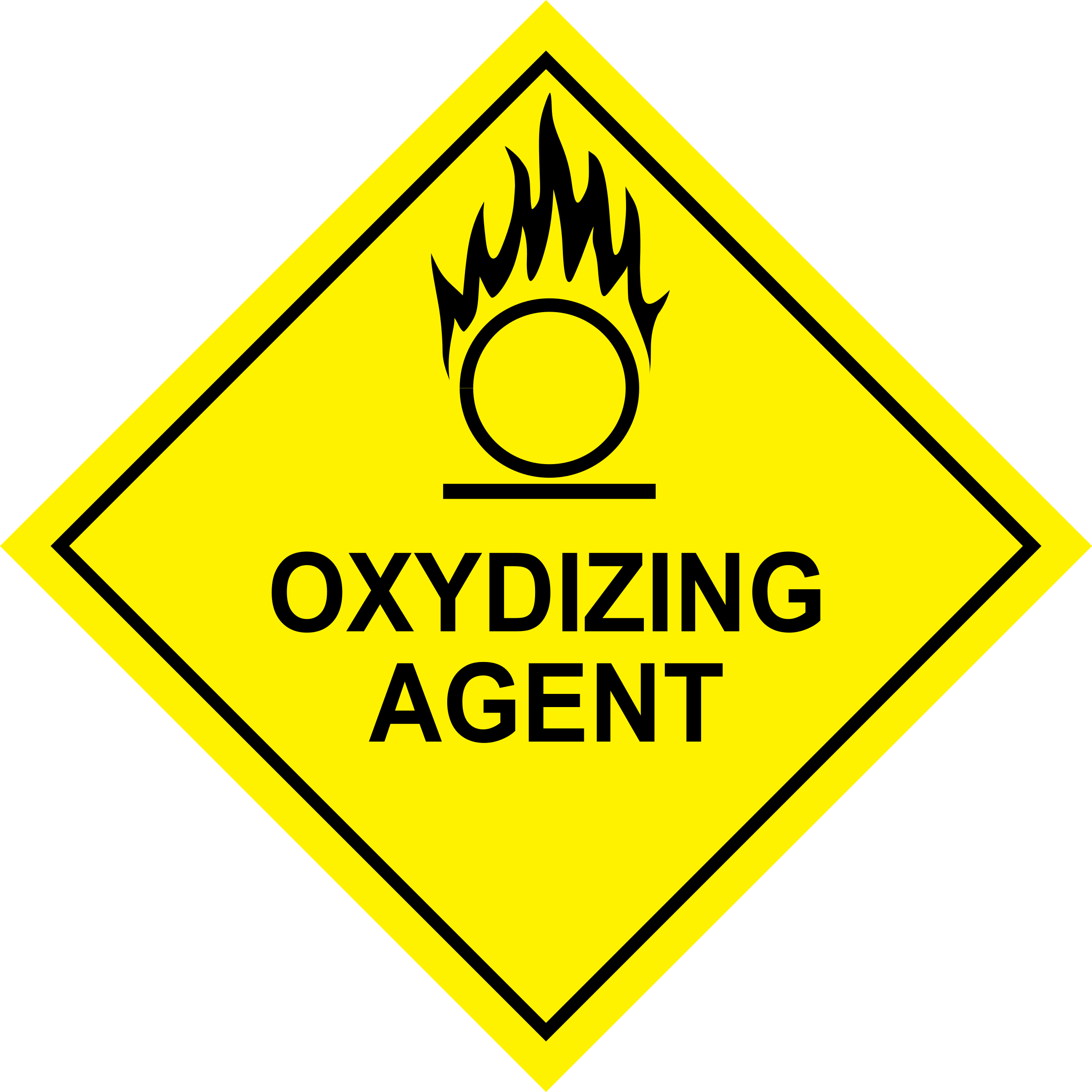 Oxidizing Agent Sign by boobaloo