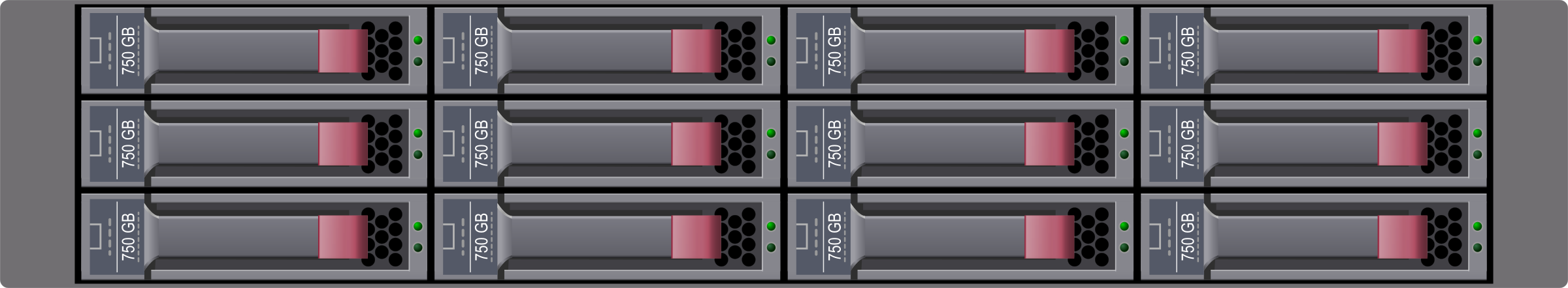 SATA Disk Array by Rob Fenwitch