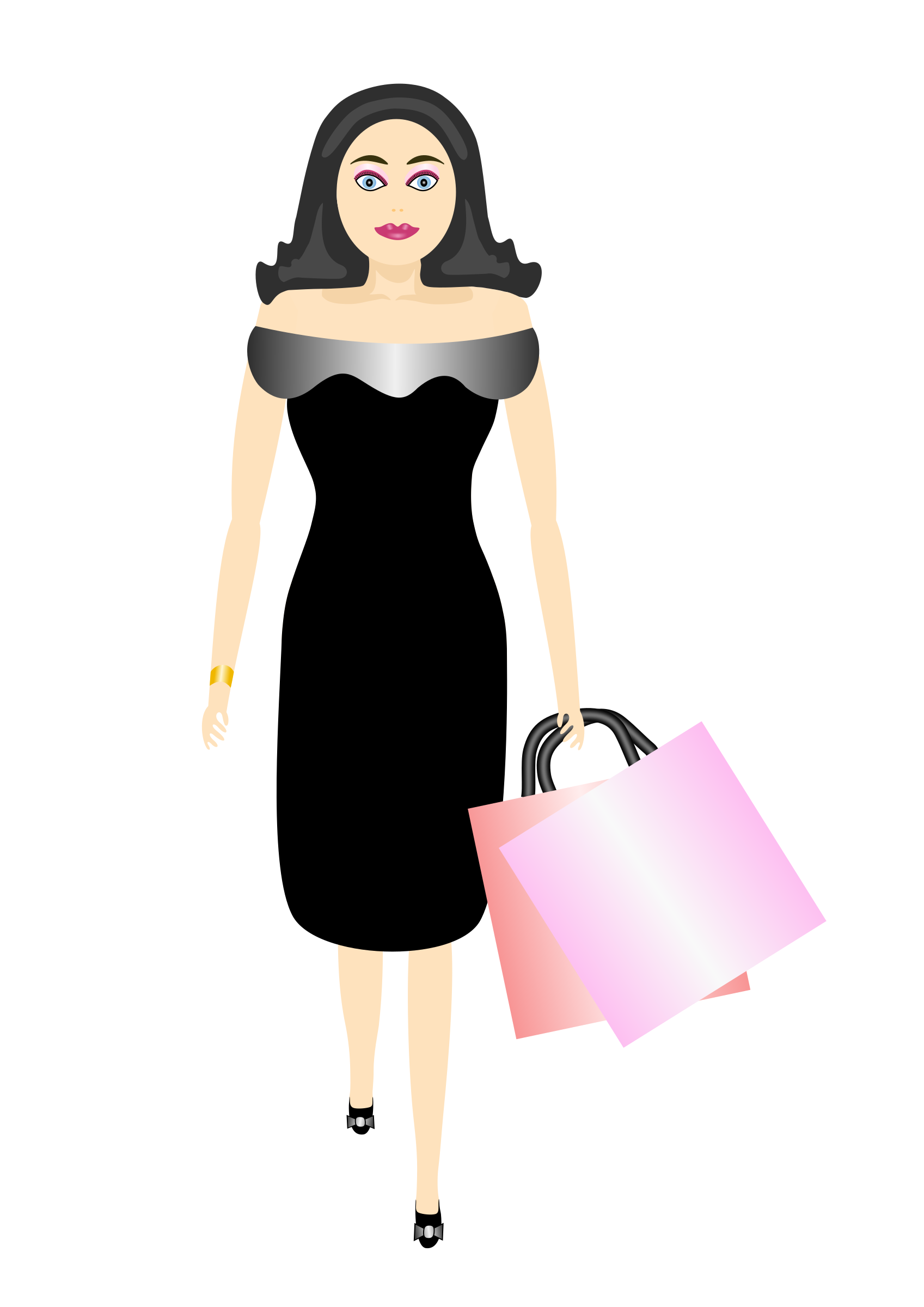 glamour girl shopping by Artmaker