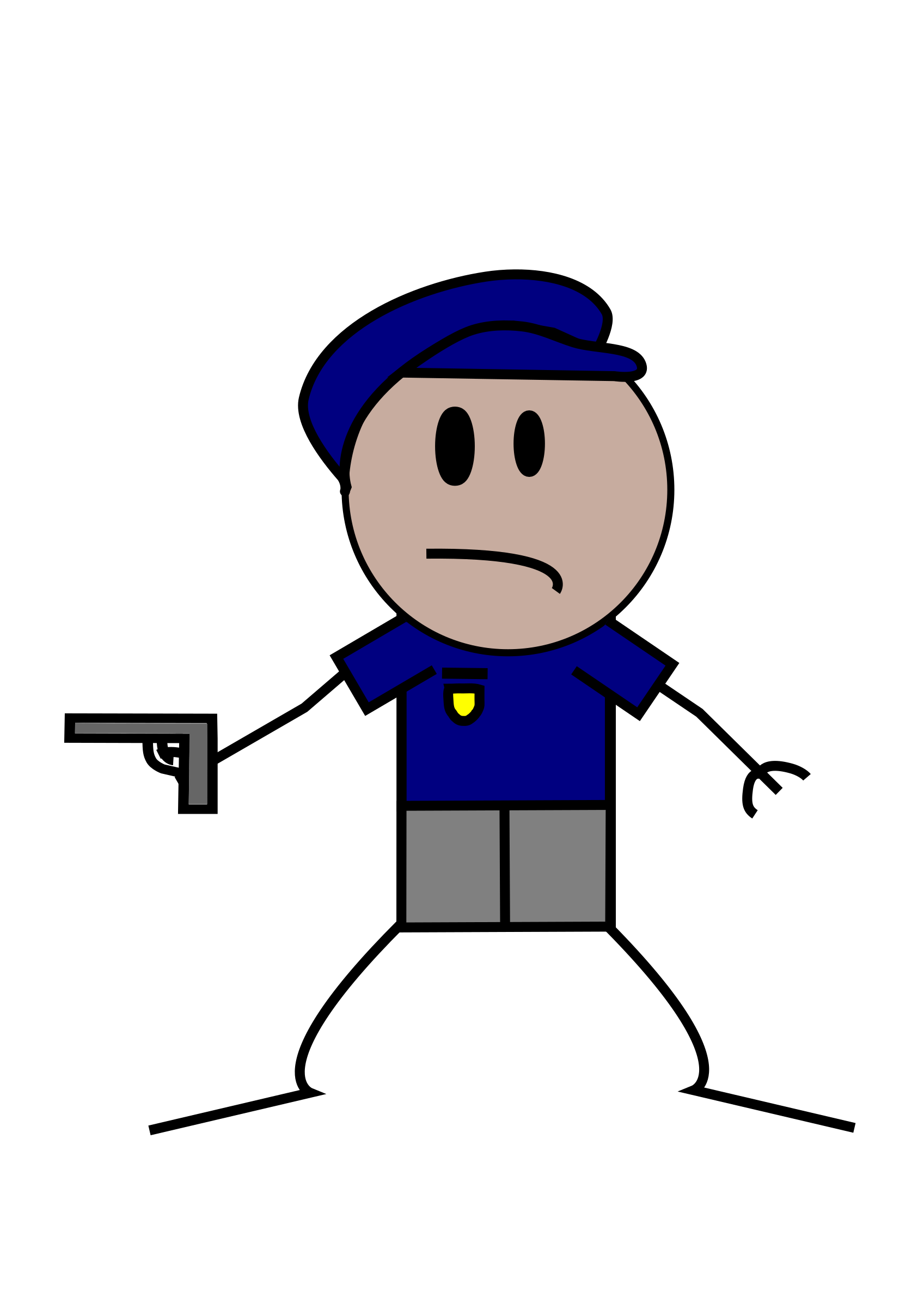 Police Stick Figure by Lil_Mermaid_Girl