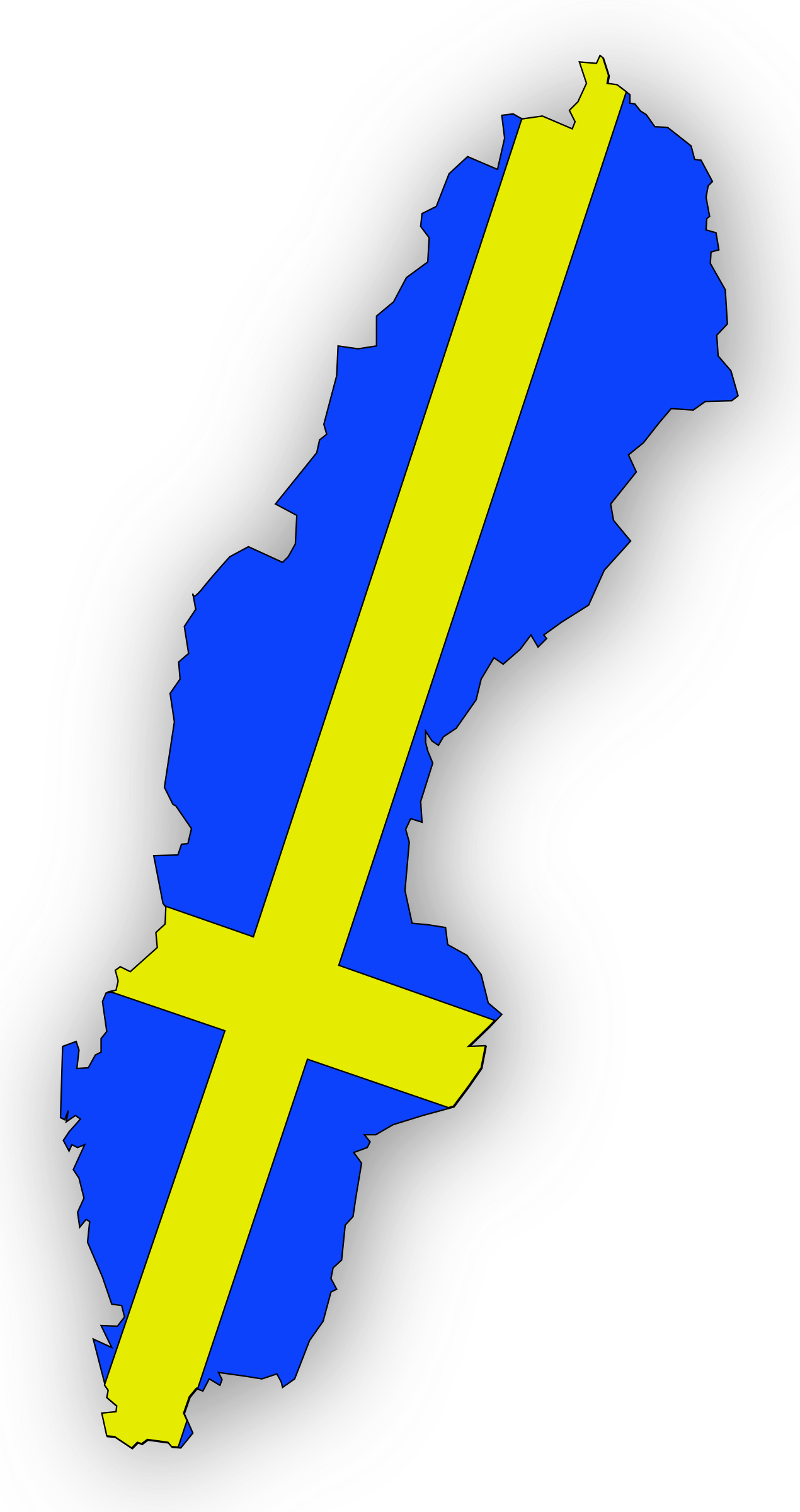 Sweden Flag In Sweden Map by mystica