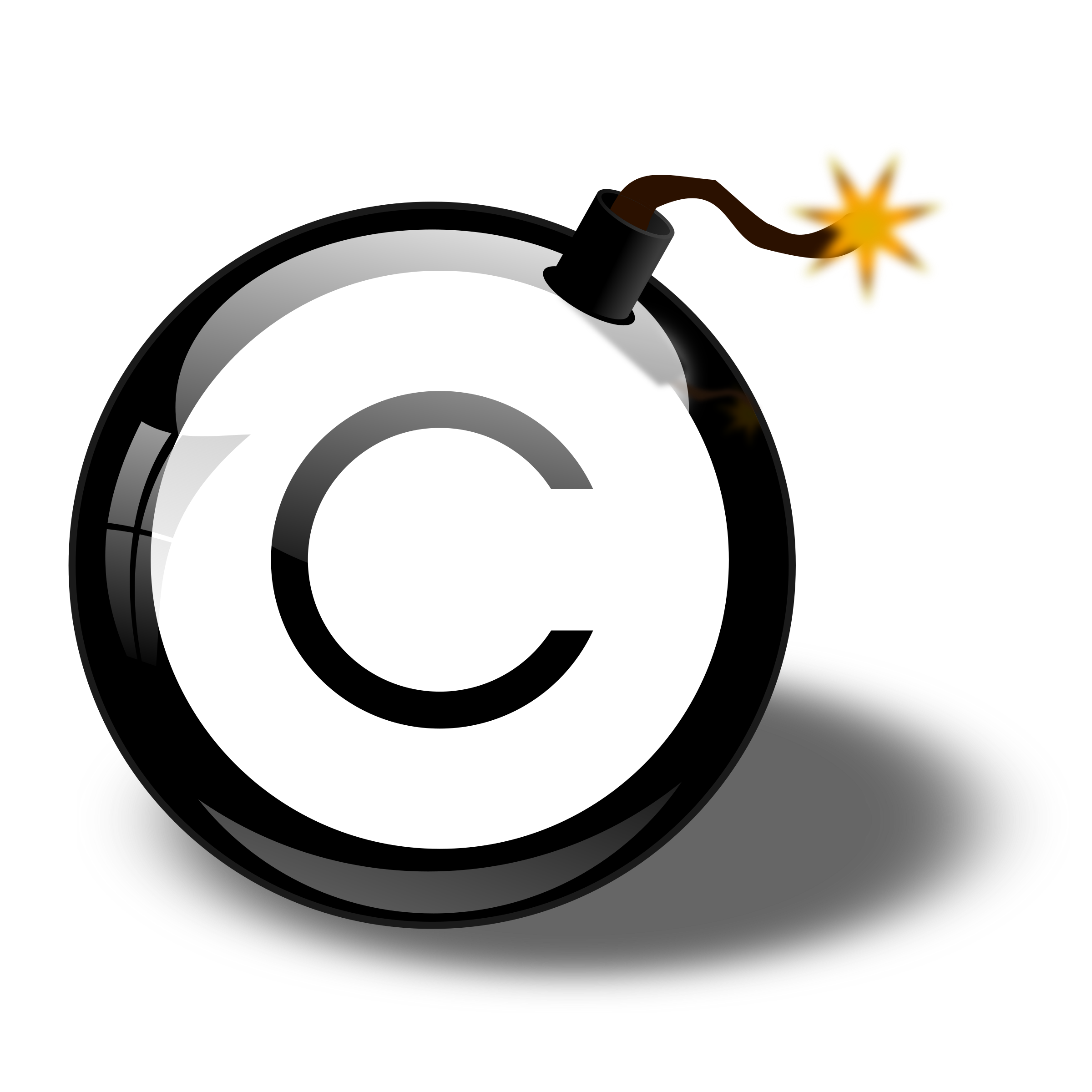 Copyright Bomb by cliparteles