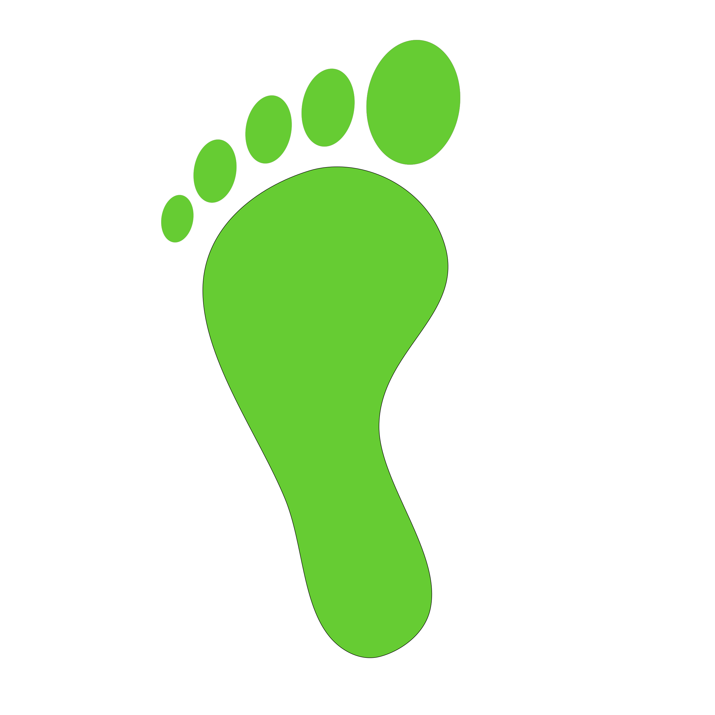 green foot print by netalloy