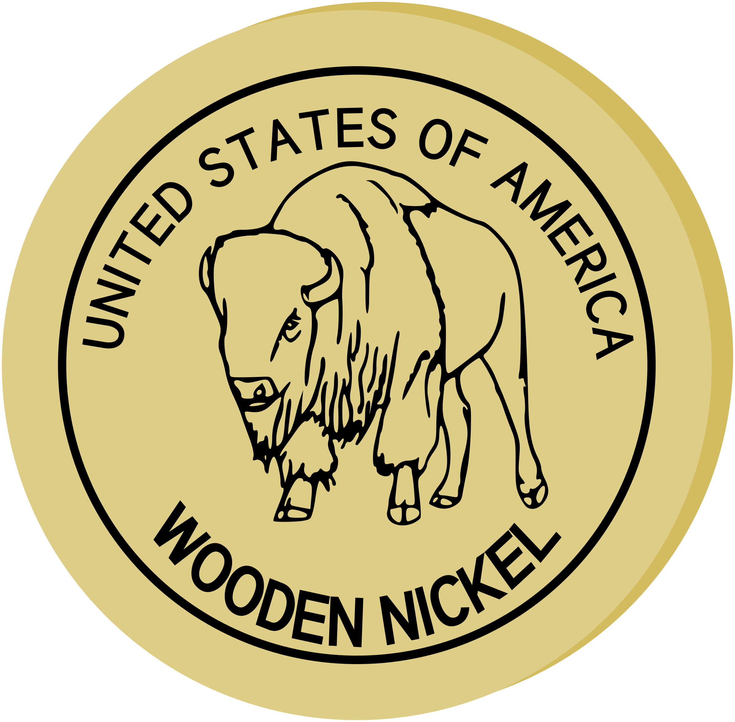 Wooden Nickel by mazeo