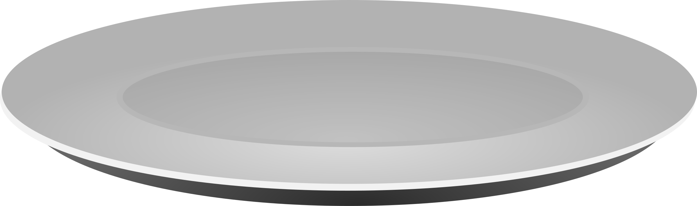 Plain Grey Plate by GR8DAN