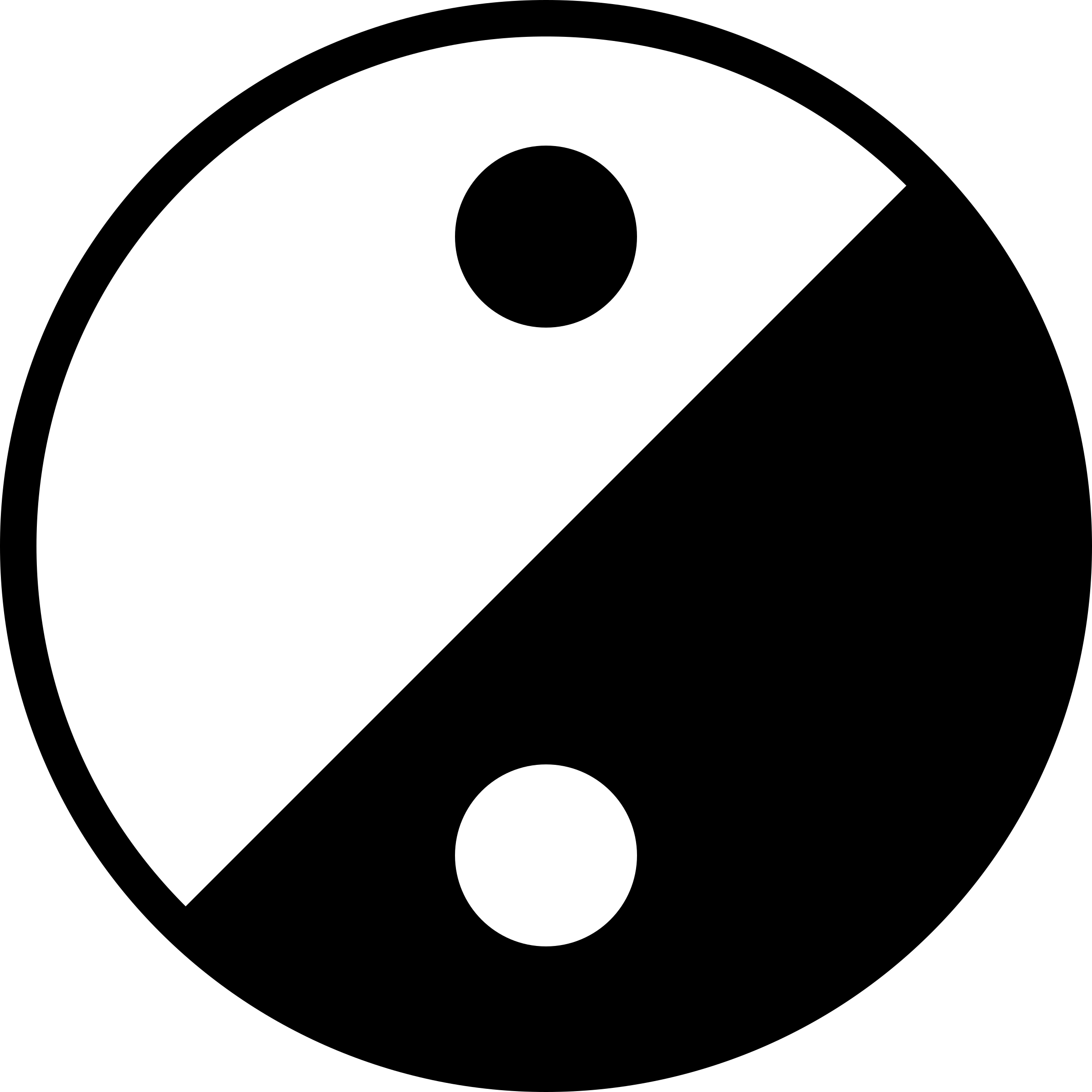 Simple Yin Yang Icon by qubodup