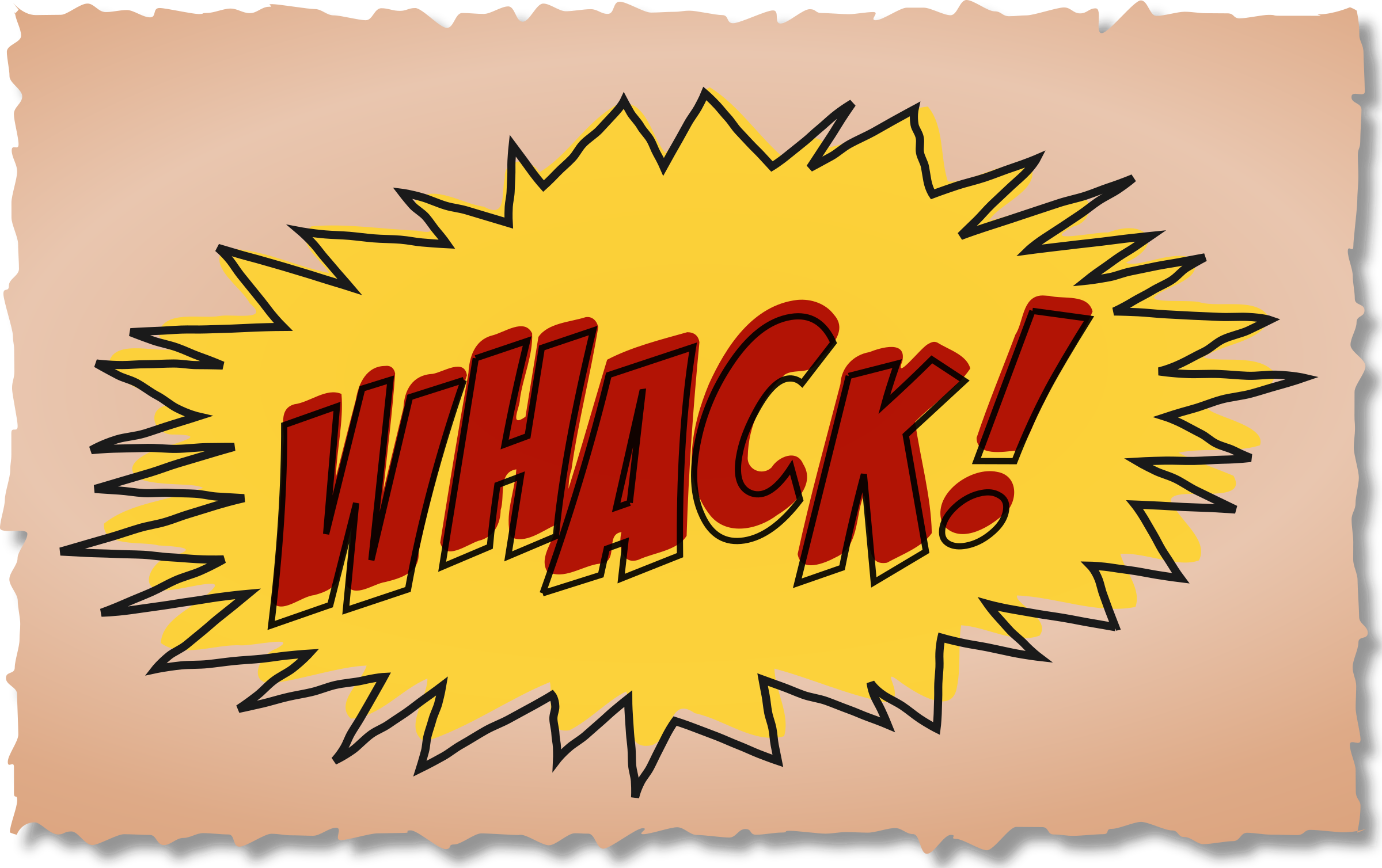 Whack comic book sound effect by studio_hades