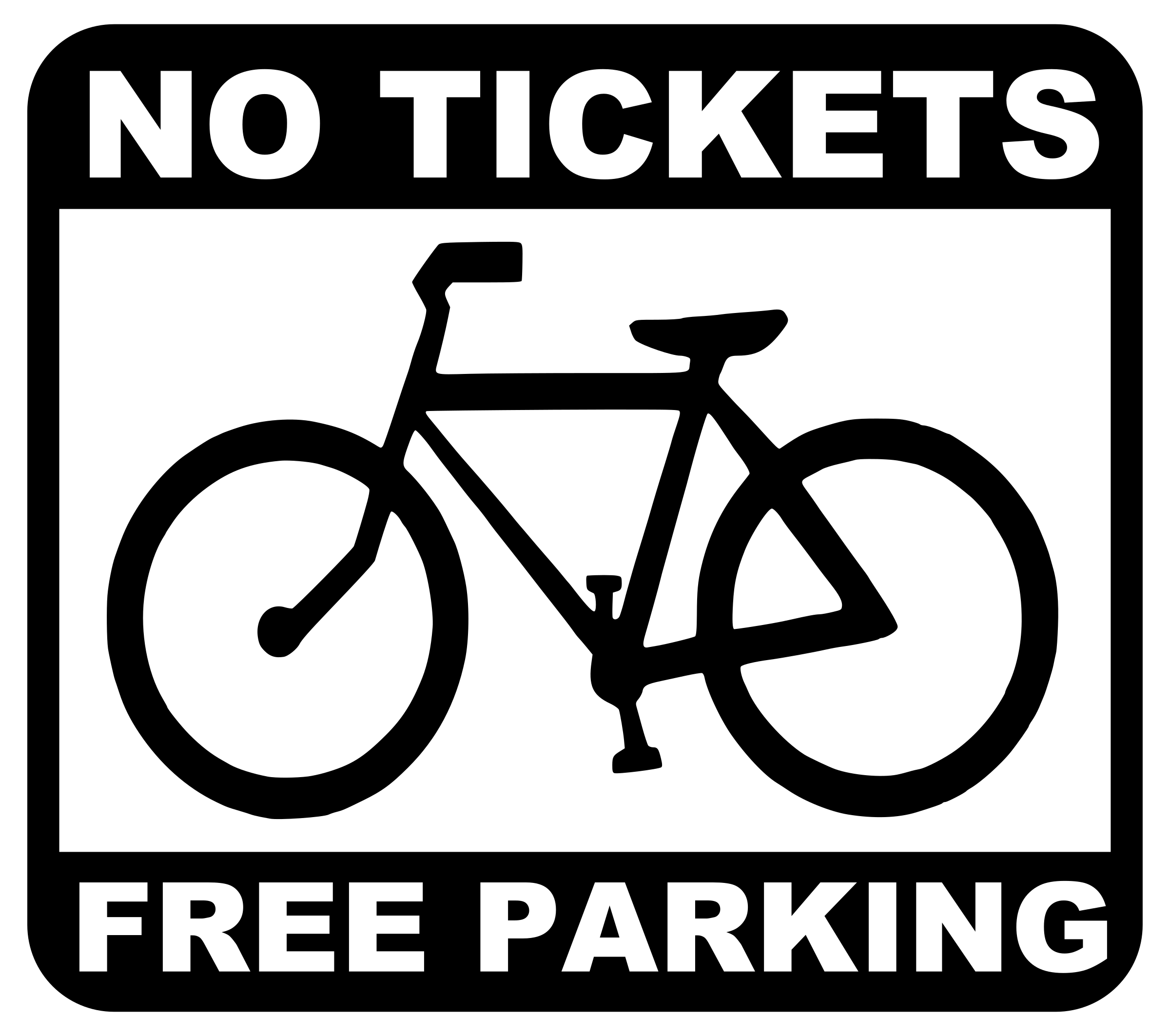 bike - no tickets, free parking by worker