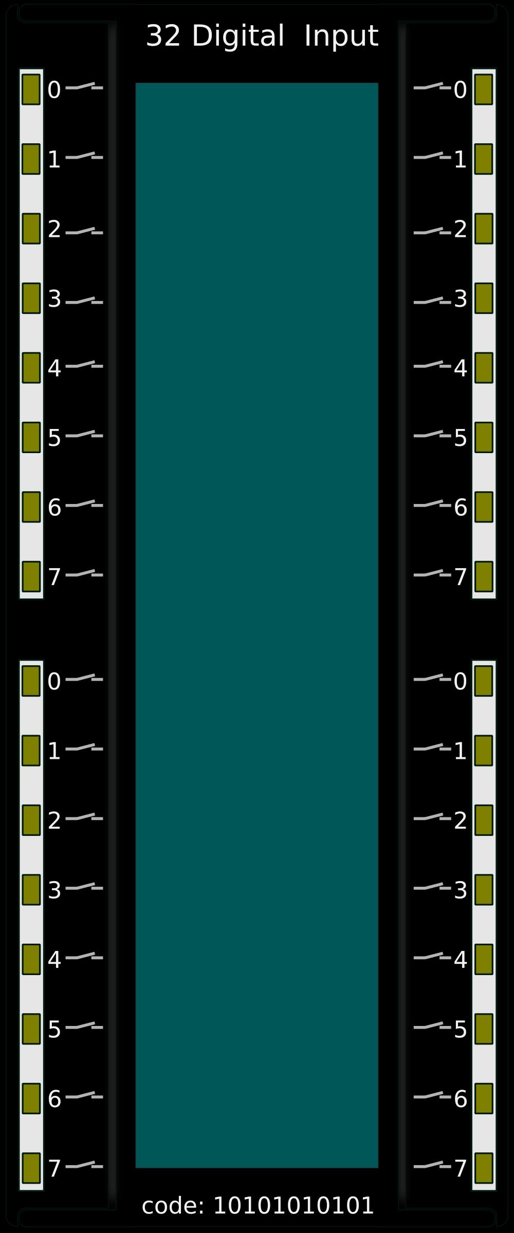 Volt Png >> Clipart - PLC 32 Digital Input
