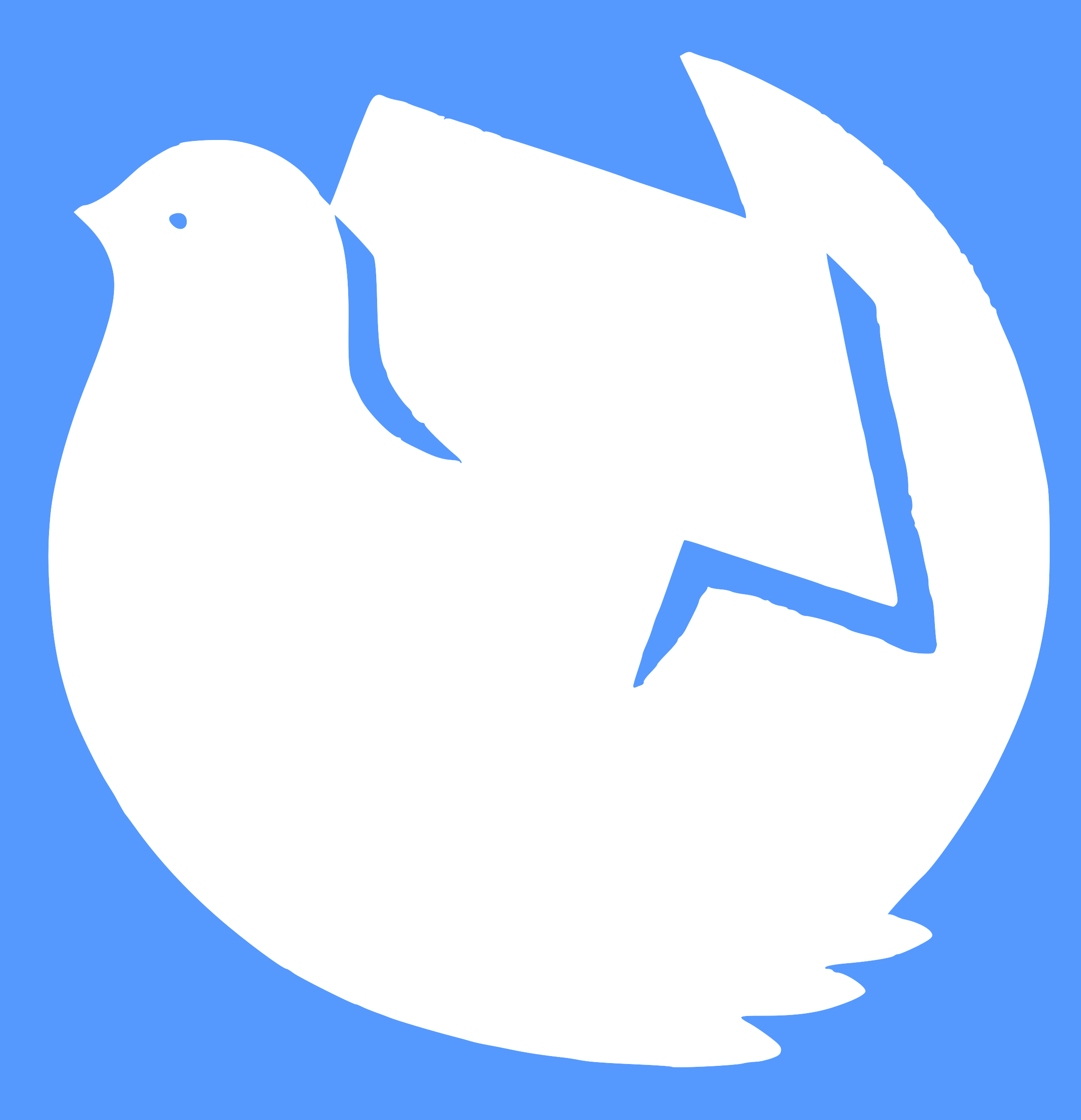 dove, hammer and sickle by worker